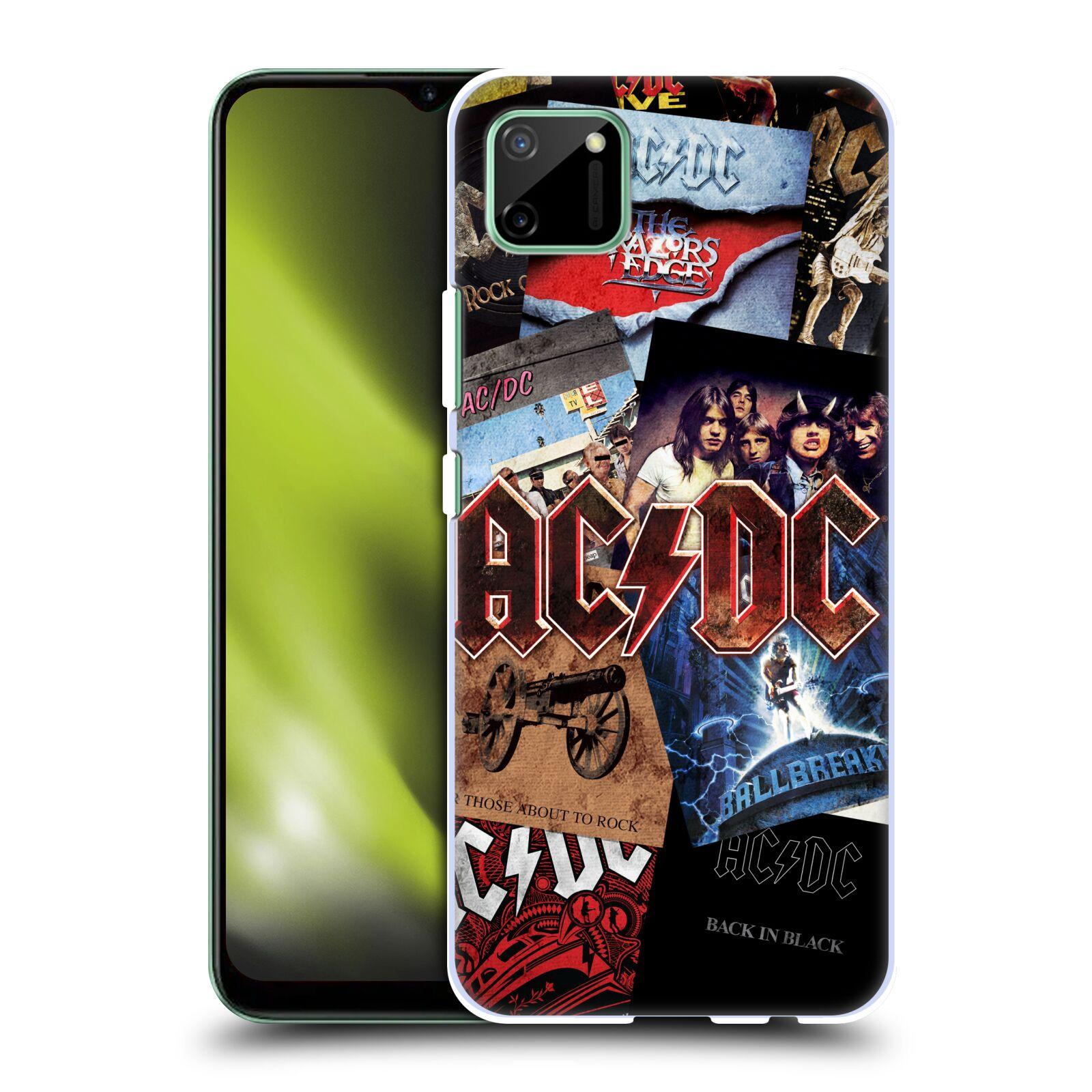 Plastové pouzdro na mobil Realme C11 - Head Case - AC/DC Koláž desek