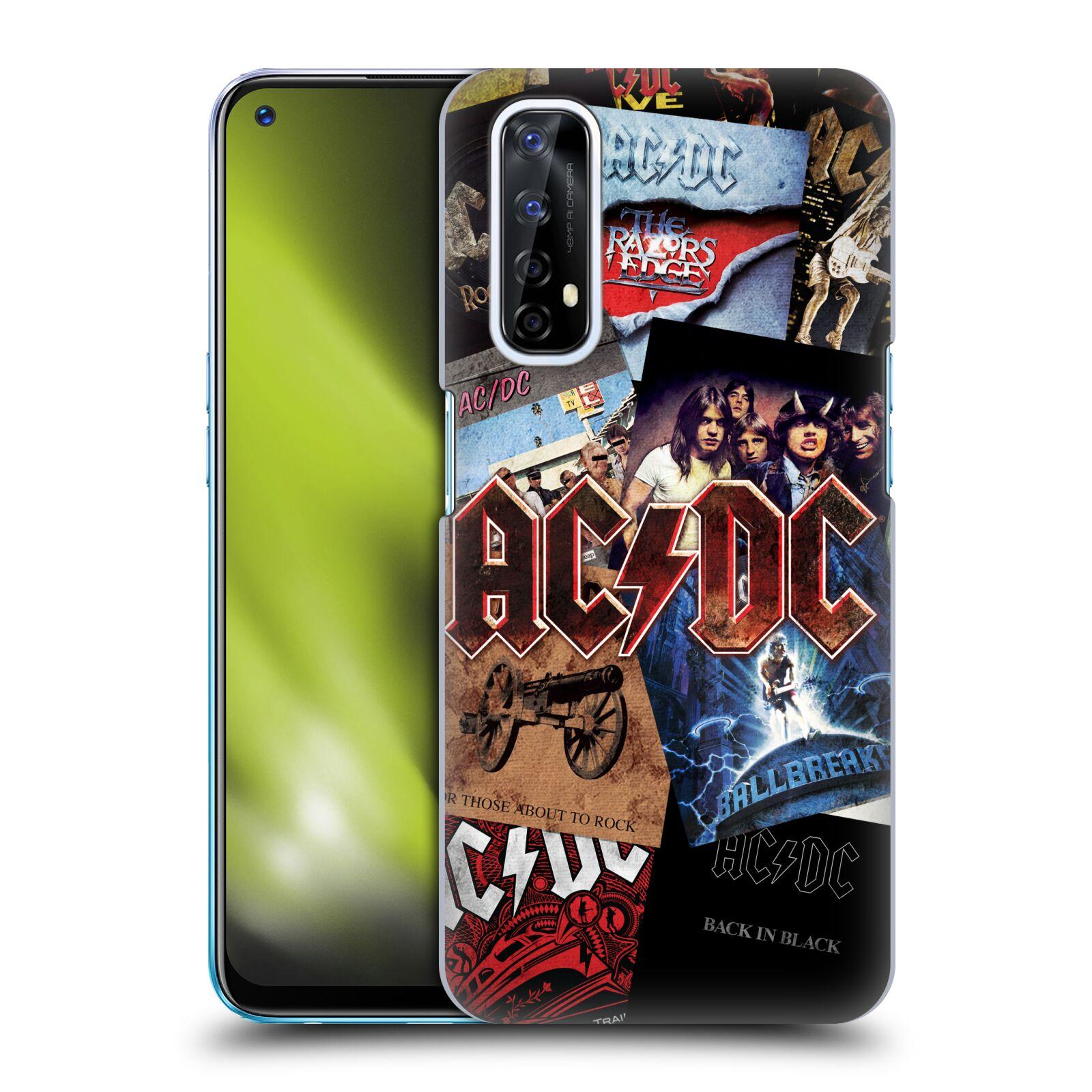 Plastové pouzdro na mobil Realme 7 - Head Case - AC/DC Koláž desek