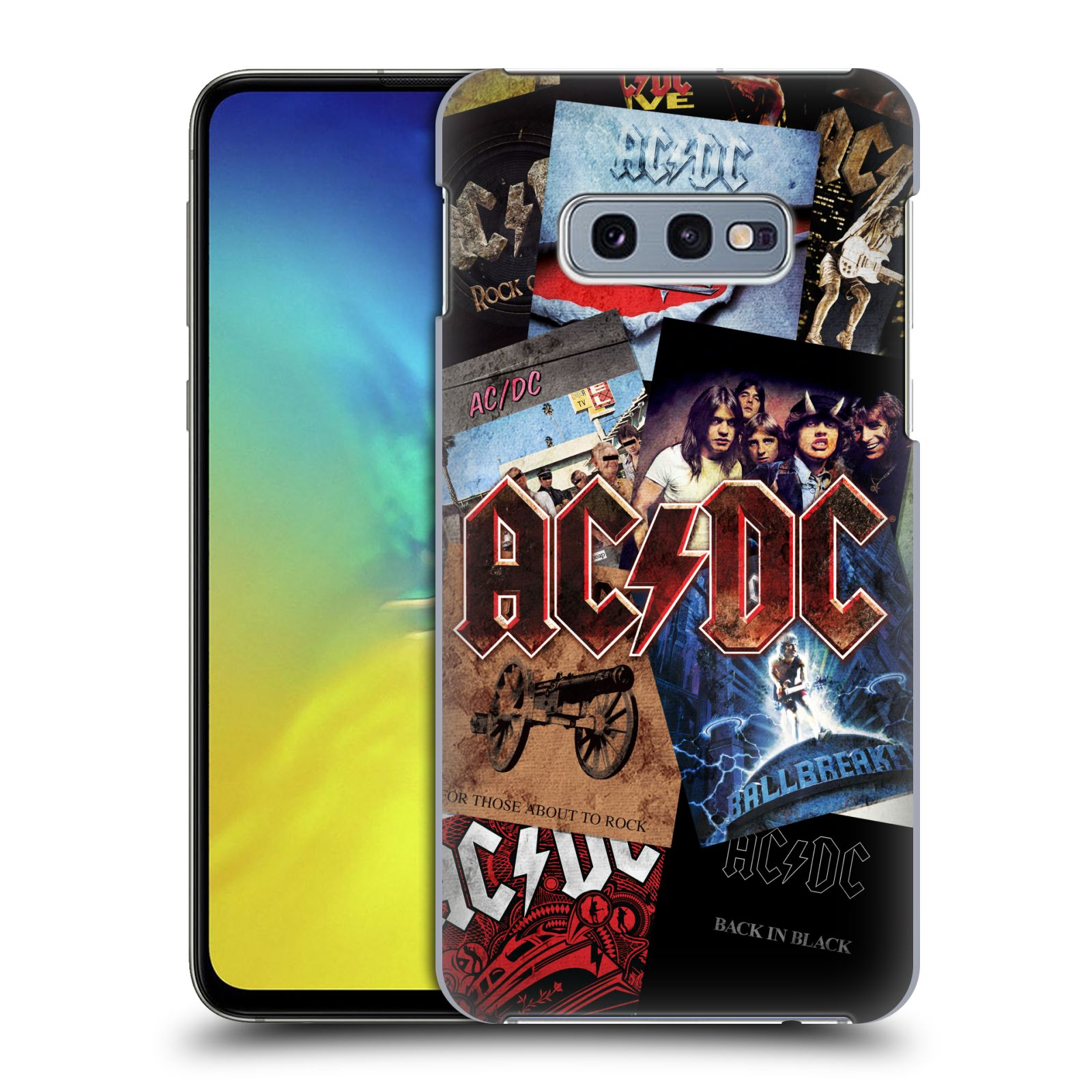 Plastové pouzdro na mobil Samsung Galaxy S10e - Head Case - AC/DC Koláž desek