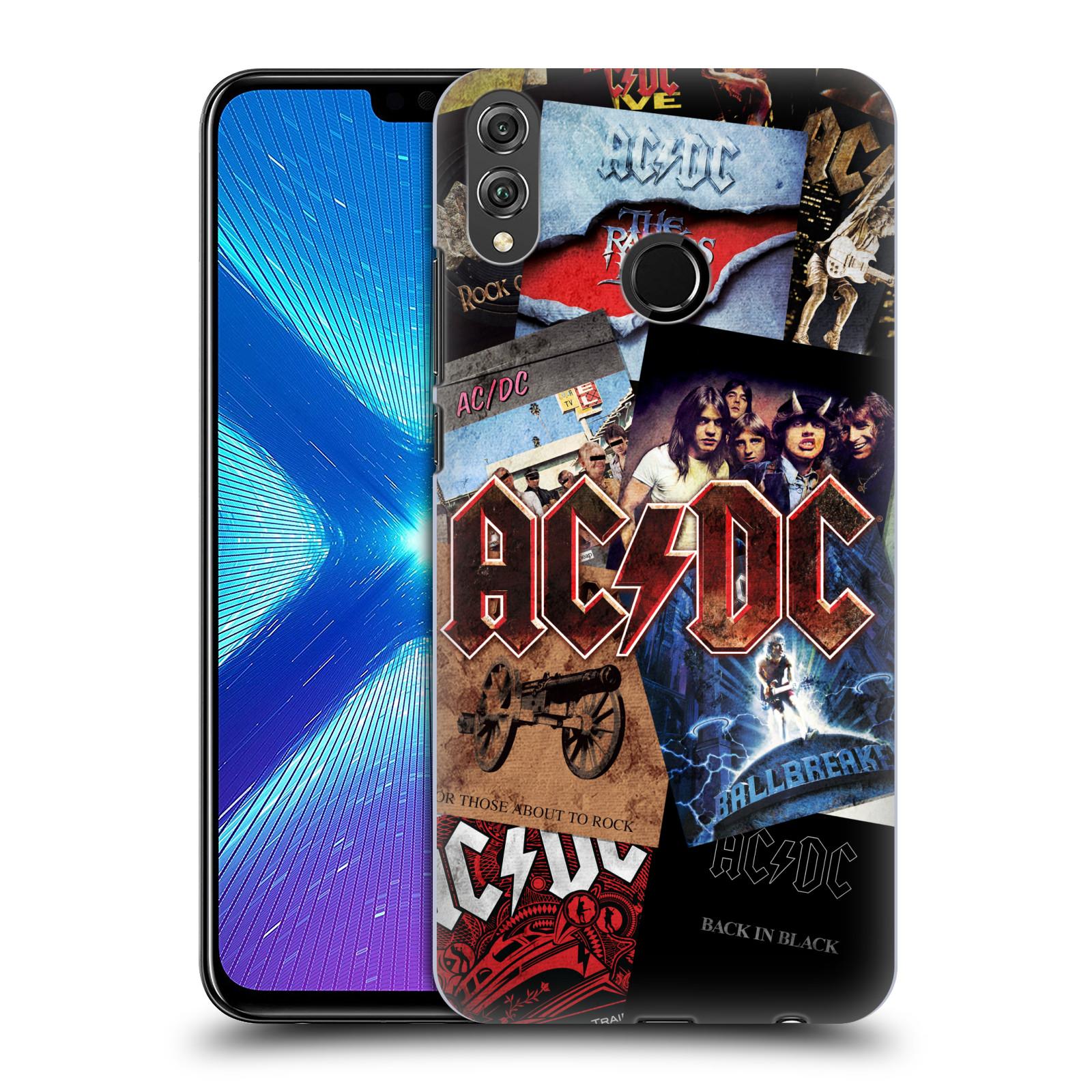 Plastové pouzdro na mobil Honor 8X - Head Case - AC/DC Koláž desek