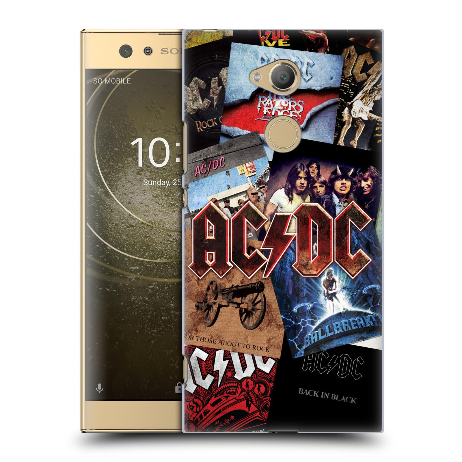 Plastové pouzdro na mobil Sony Xperia XA2 Ultra - Head Case - AC/DC Koláž desek