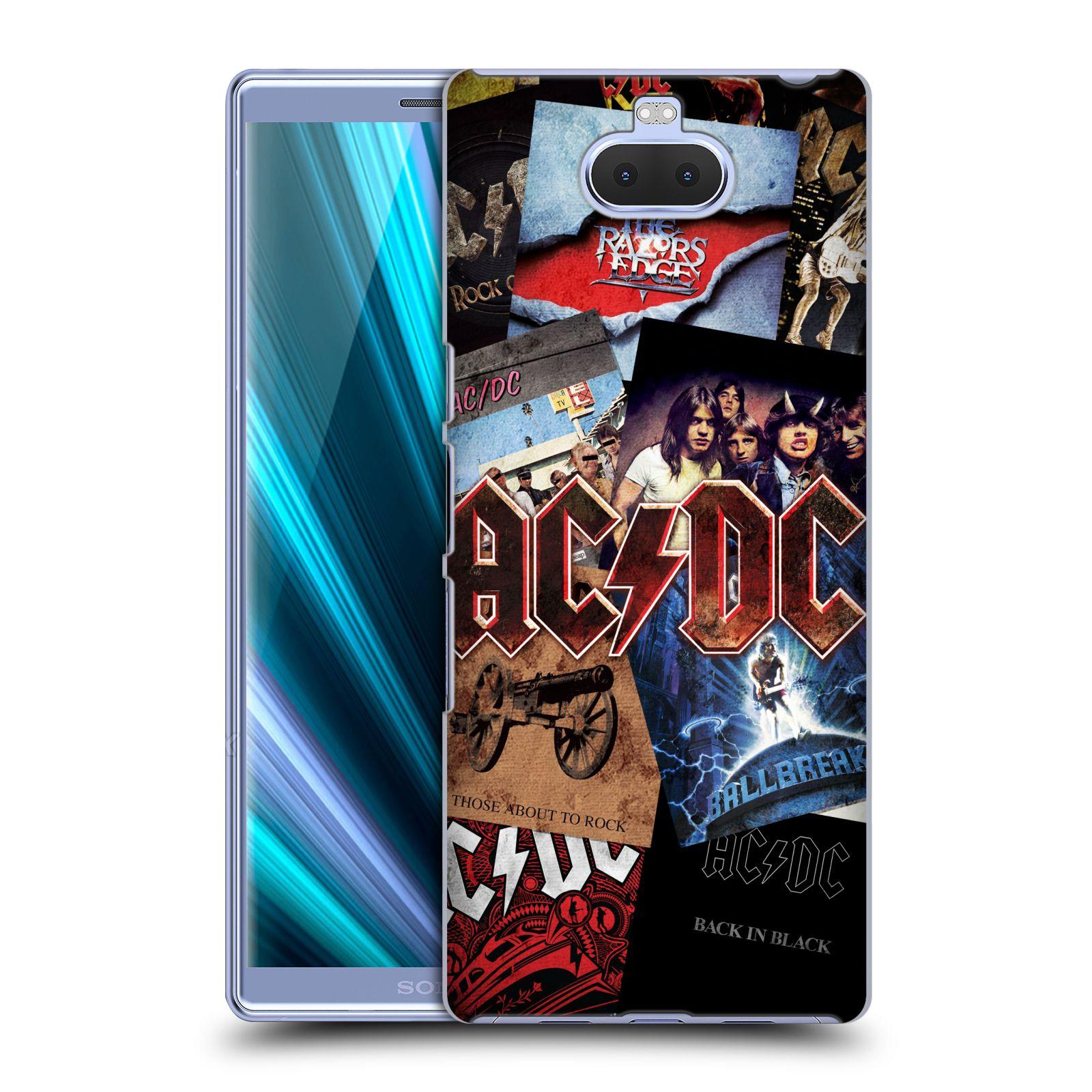 Plastové pouzdro na mobil Sony Xperia 10 Plus - Head Case - AC/DC Koláž desek