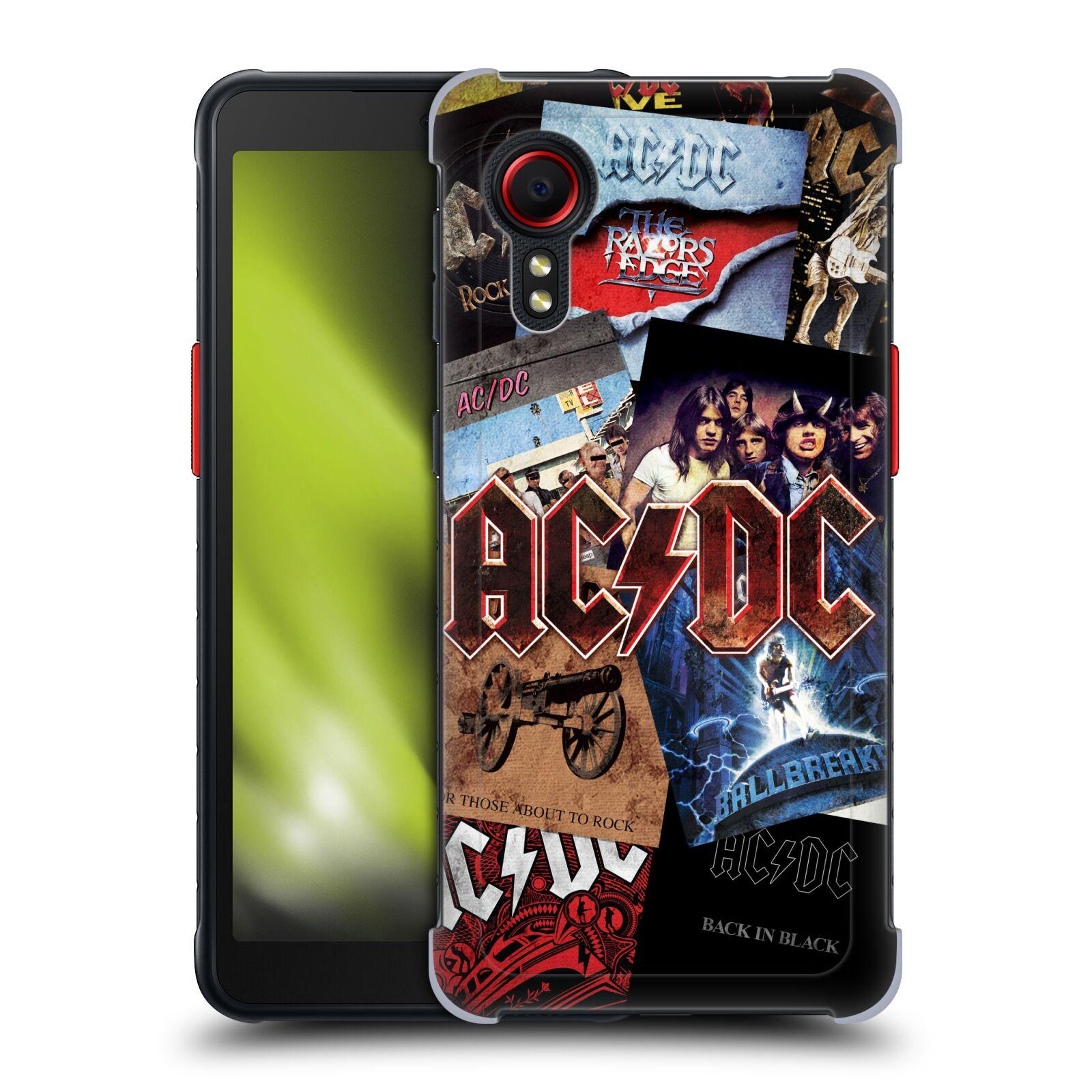 Plastové pouzdro na mobil Samsung Galaxy Xcover 5 - Head Case - AC/DC Koláž desek