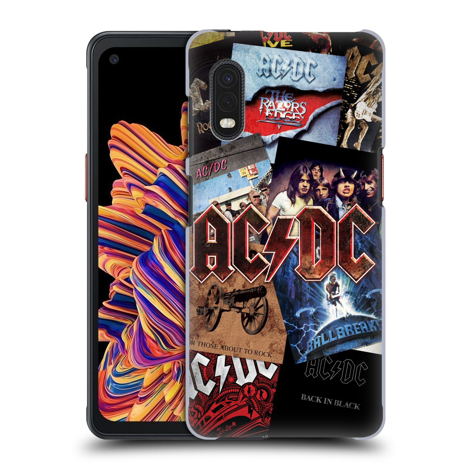 Plastové pouzdro na mobil Samsung Galaxy Xcover Pro - Head Case - AC/DC Koláž desek