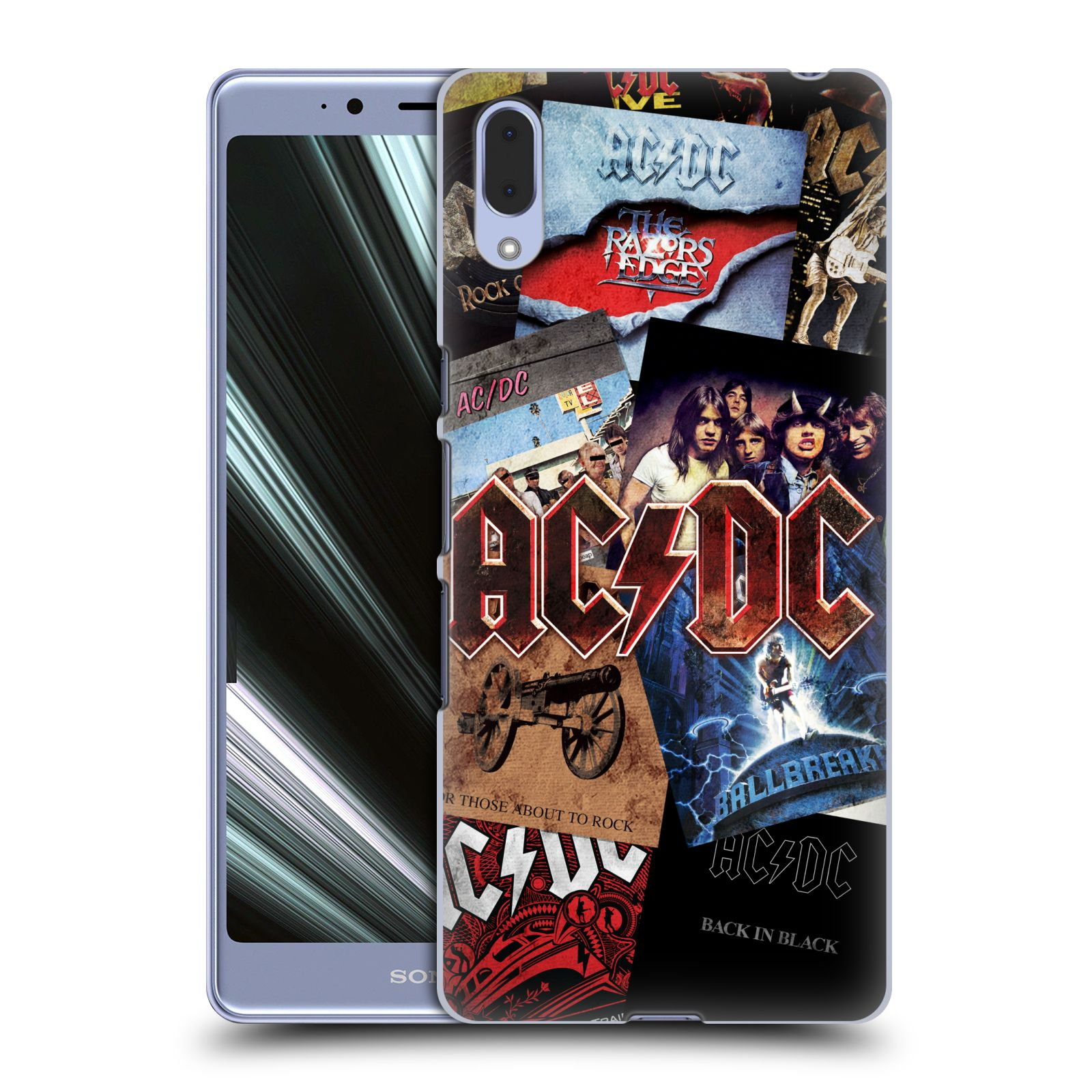 Plastové pouzdro na mobil Sony Xperia L3 - Head Case - AC/DC Koláž desek