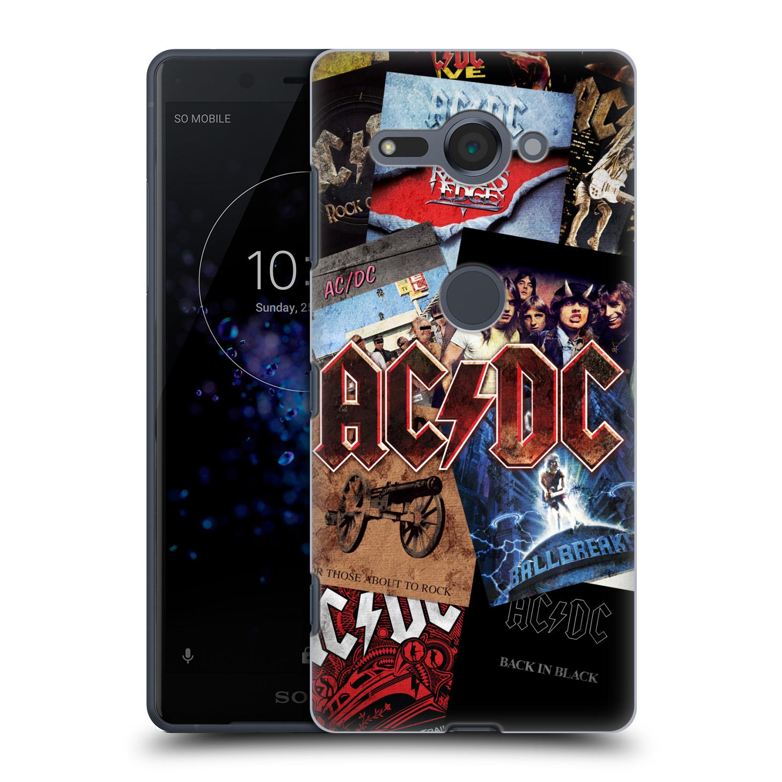 Plastové pouzdro na mobil Sony Xperia XZ2 Compact - Head Case - AC/DC Koláž desek