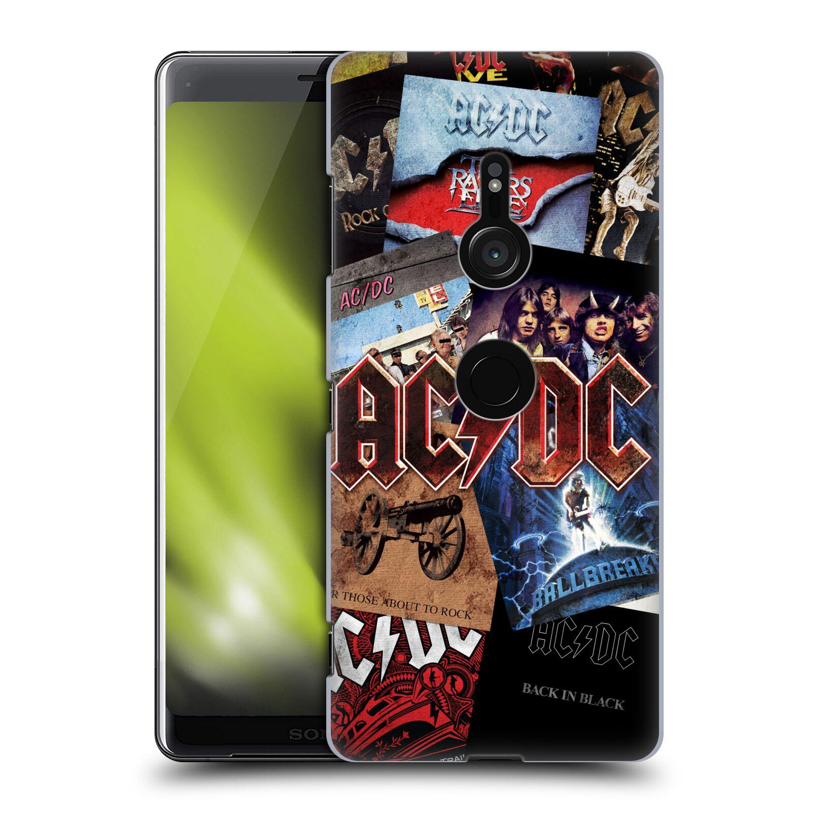 Plastové pouzdro na mobil Sony Xperia XZ3 - Head Case - AC/DC Koláž desek