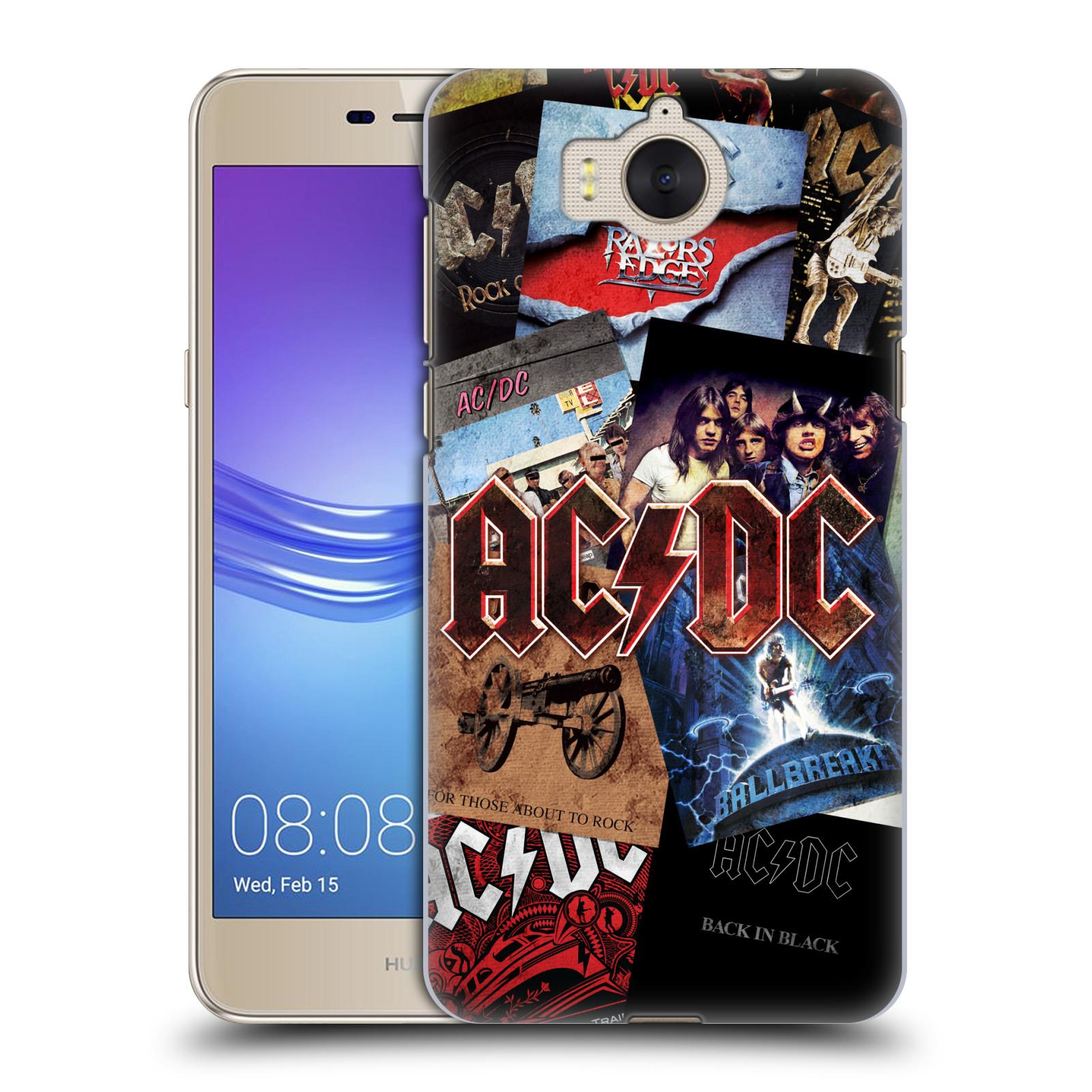 Plastové pouzdro na mobil Huawei Y6 2017 - Head Case - AC/DC Koláž desek
