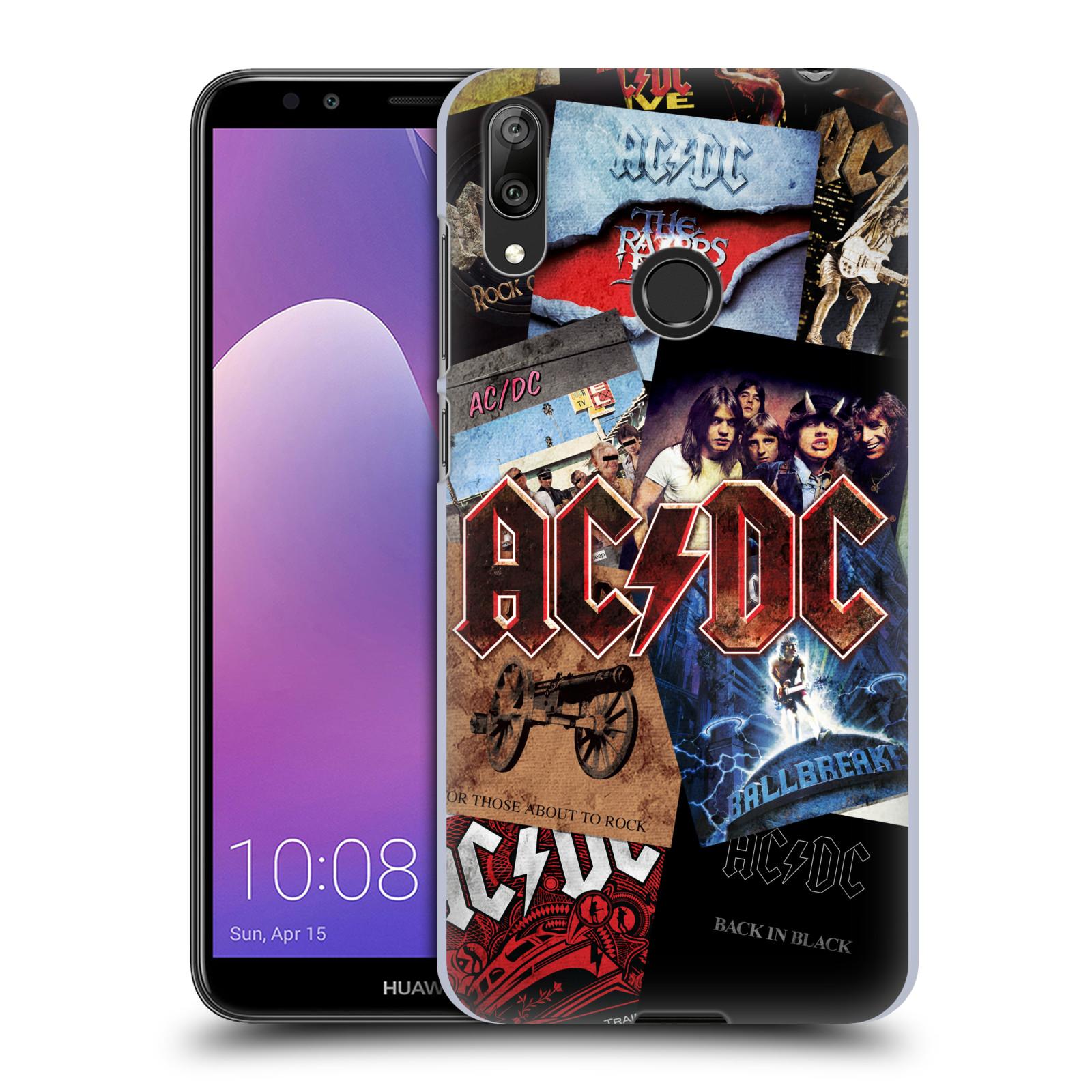 Plastové pouzdro na mobil Huawei Y7 (2019) - Head Case - AC/DC Koláž desek