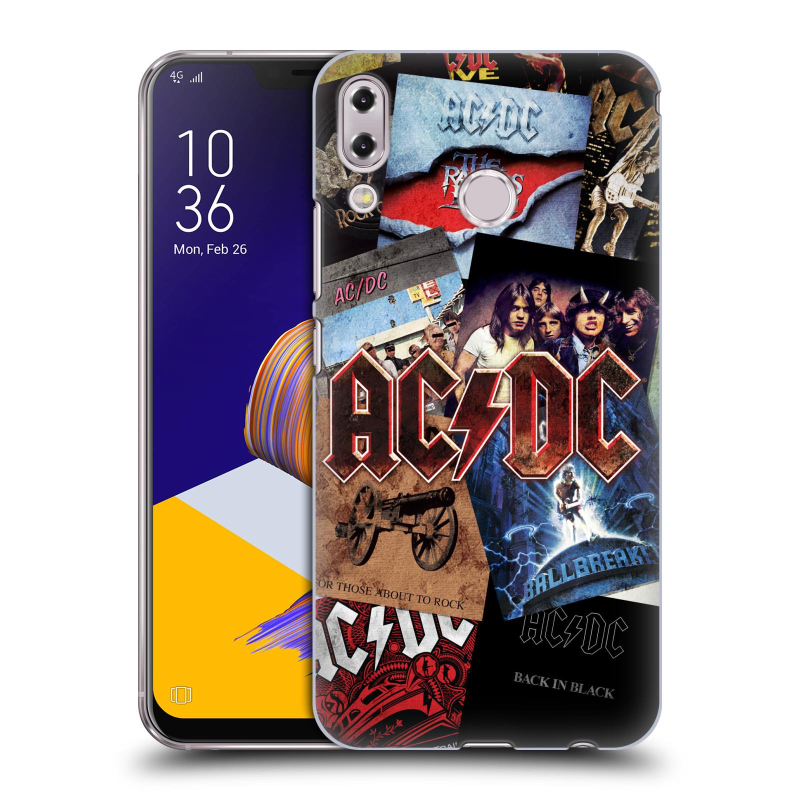 Plastové pouzdro na mobil Asus Zenfone 5z ZS620KL - Head Case - AC/DC Koláž desek