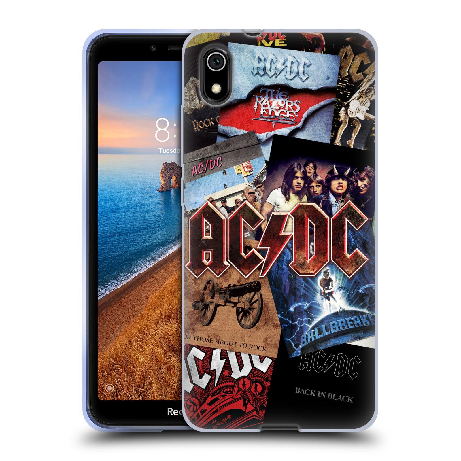 Silikonové pouzdro na mobil Redmi 7A - Head Case - AC/DC Koláž desek