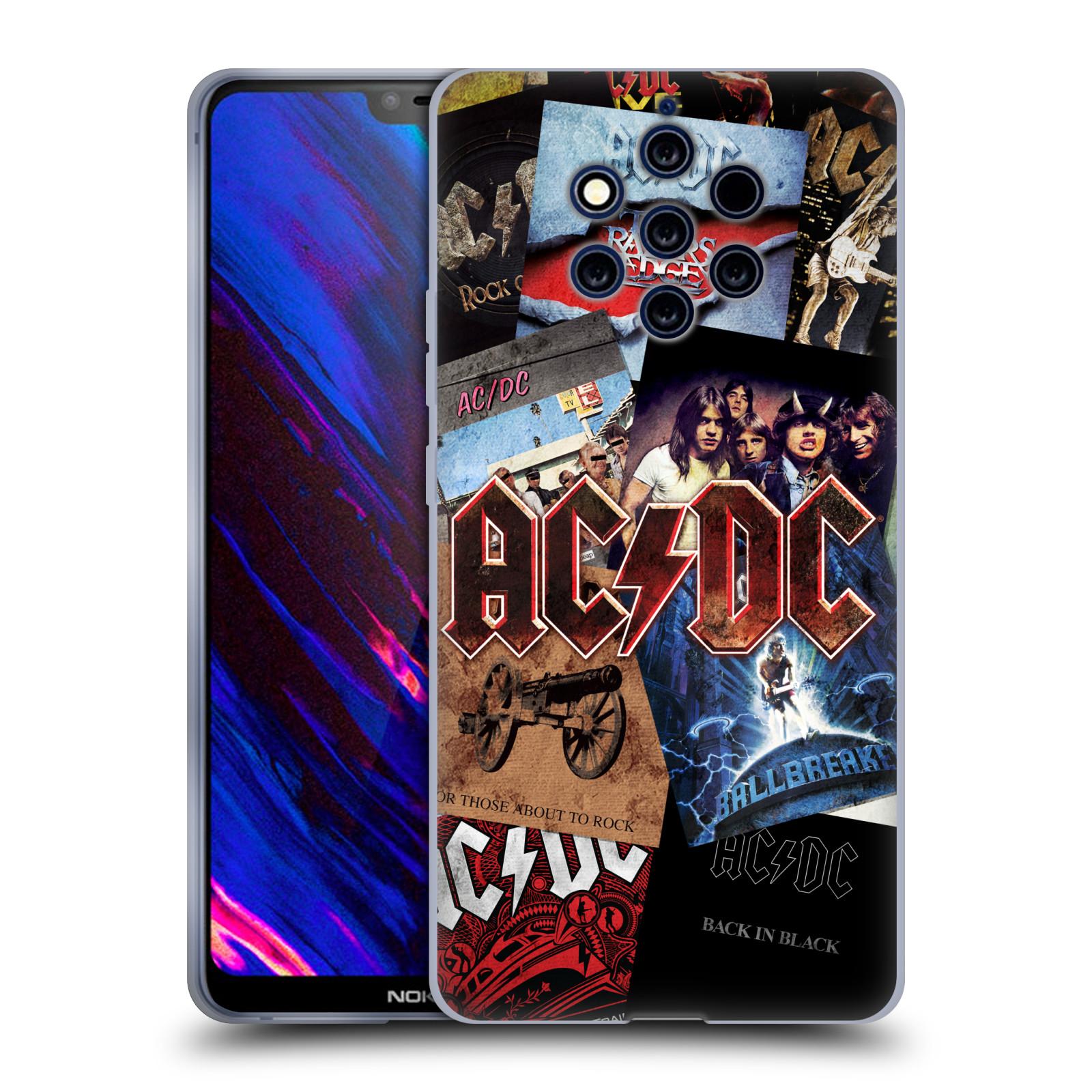 Silikonové pouzdro na mobil Nokia 9 PureView - Head Case - AC/DC Koláž desek
