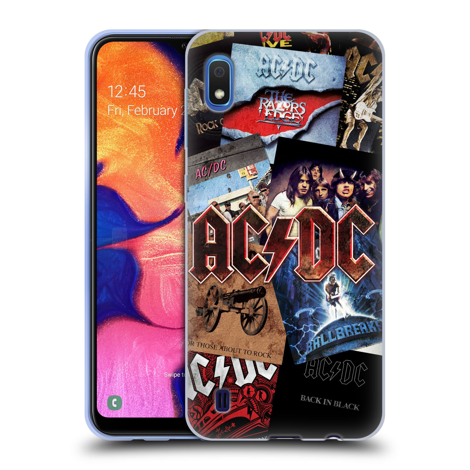 Silikonové pouzdro na mobil Samsung Galaxy A10 - Head Case - AC/DC Koláž desek