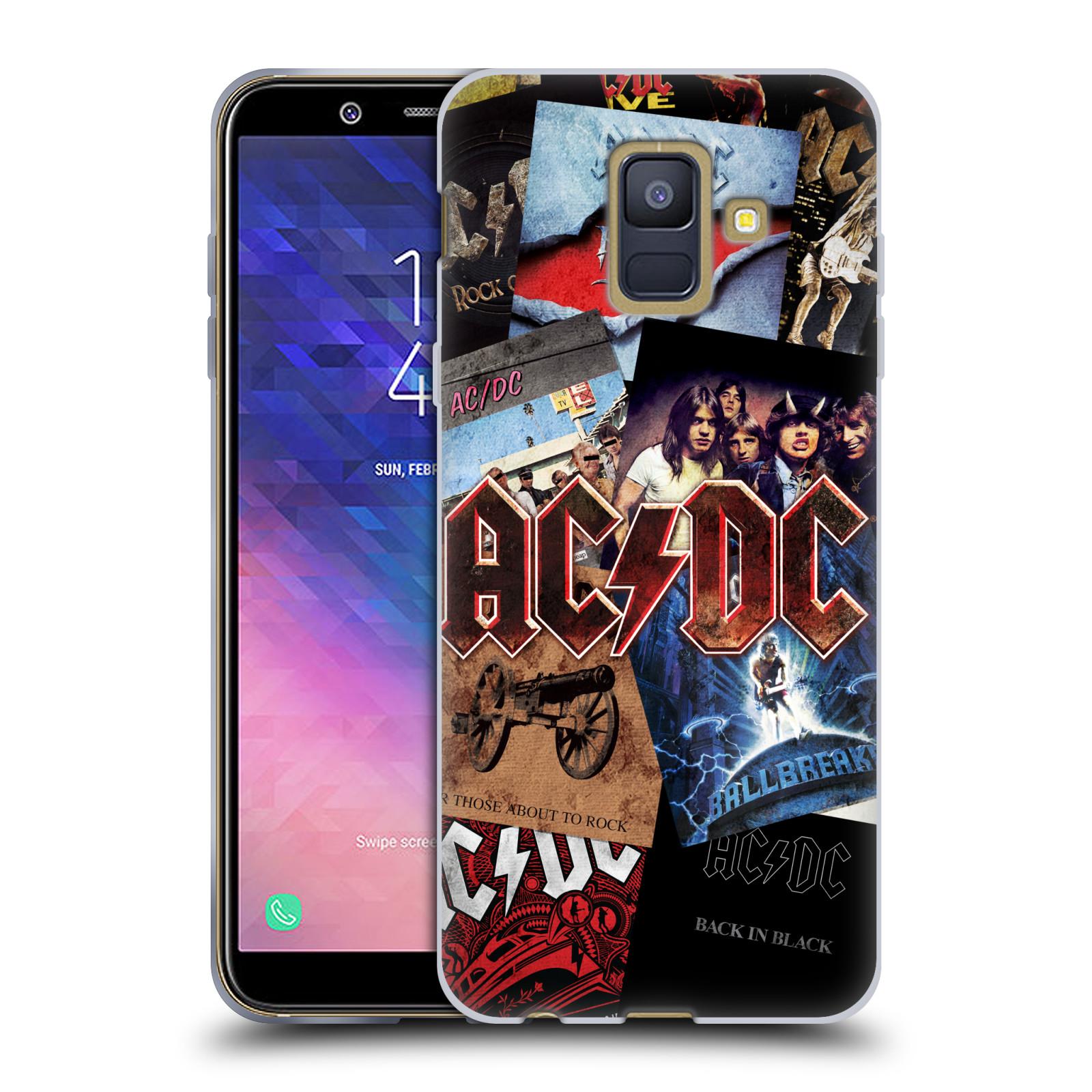 Silikonové pouzdro na mobil Samsung Galaxy A6 (2018) - Head Case - AC/DC Koláž desek