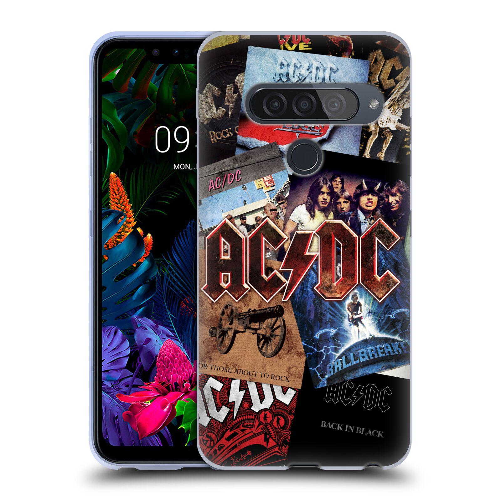 Silikonové pouzdro na mobil LG G8s ThinQ - Head Case - AC/DC Koláž desek