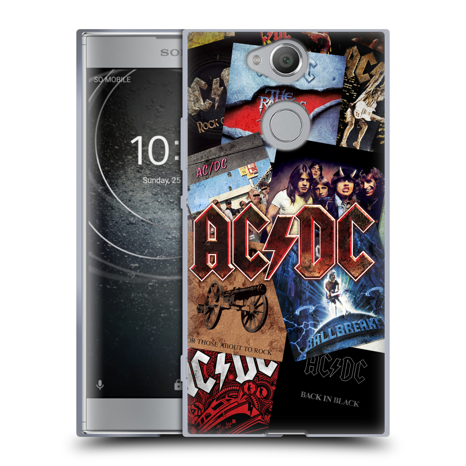 Silikonové pouzdro na mobil Sony Xperia XA2 - Head Case - AC/DC Koláž desek