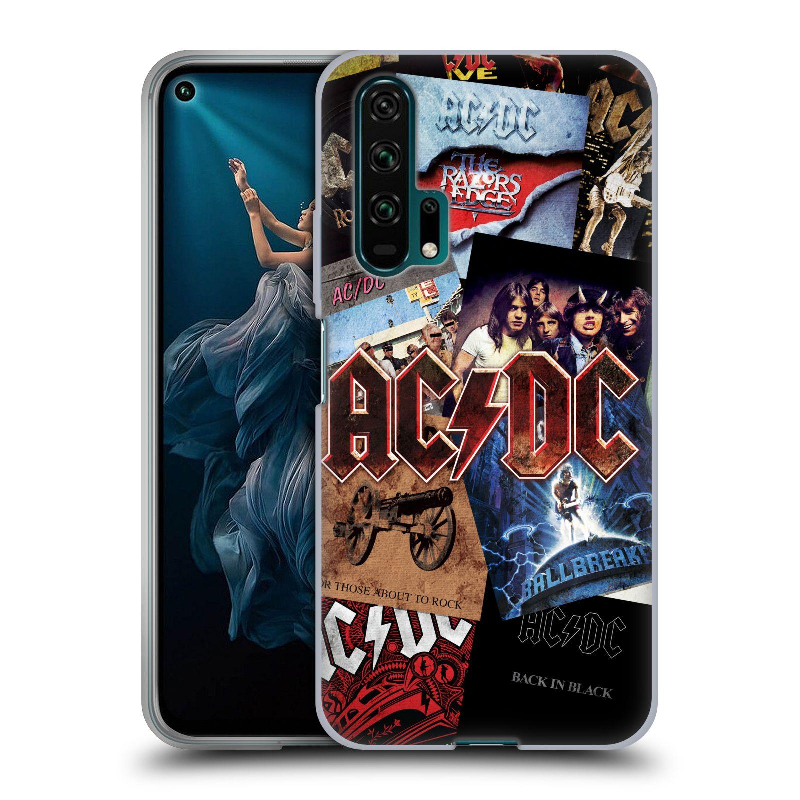 Silikonové pouzdro na mobil Honor 20 Pro - Head Case - AC/DC Koláž desek