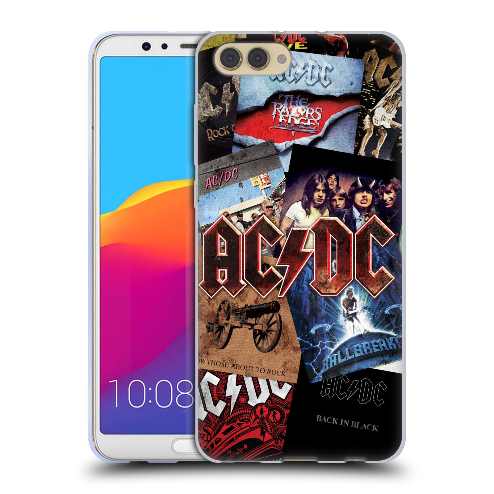 Silikonové pouzdro na mobil Honor View 10 - Head Case - AC/DC Koláž desek