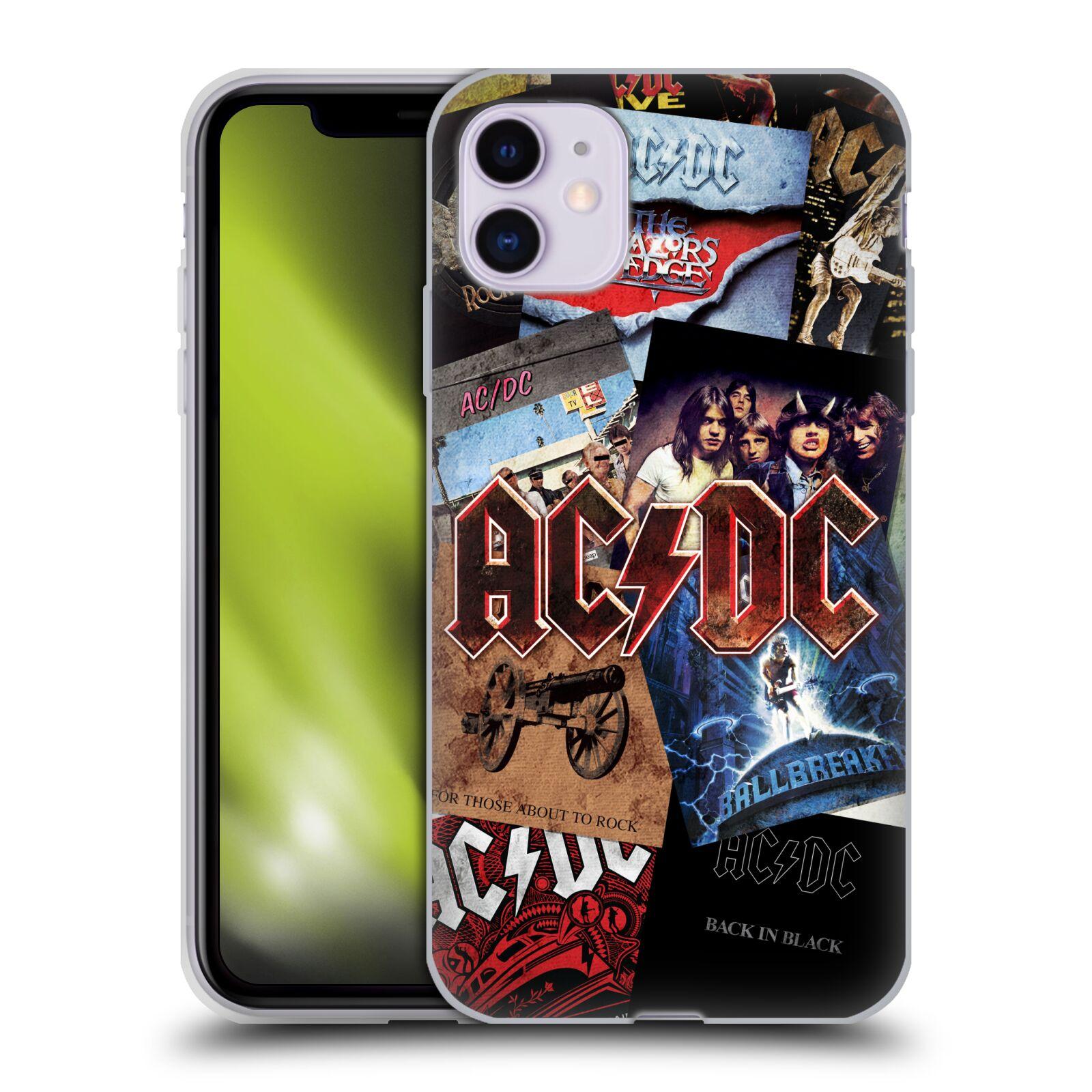 Silikonové pouzdro na mobil Apple iPhone 11 - Head Case - AC/DC Koláž desek