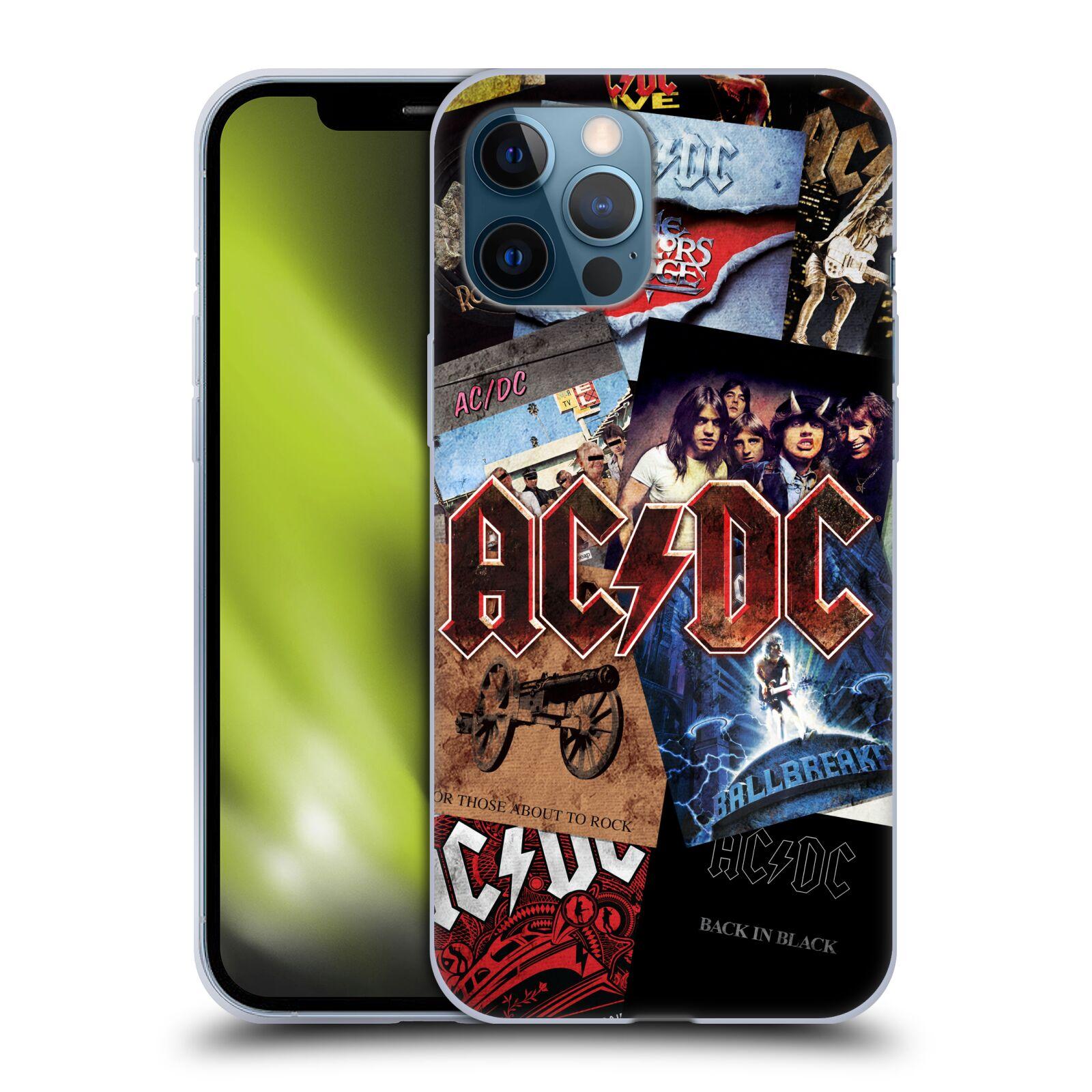 Silikonové pouzdro na mobil Apple iPhone 12 Pro Max - Head Case - AC/DC Koláž desek