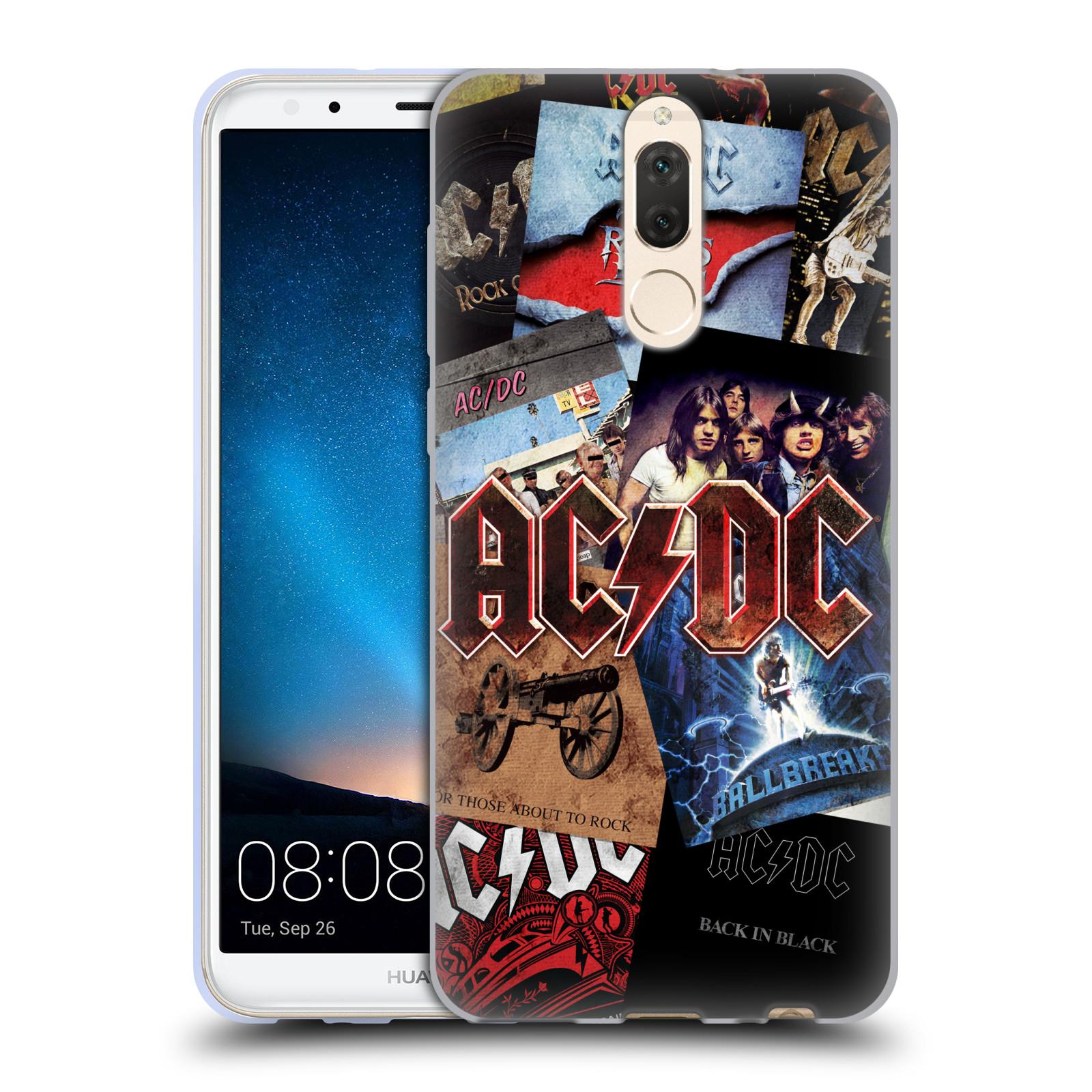 Silikonové pouzdro na mobil Huawei Mate 10 Lite - Head Case - AC/DC Koláž desek