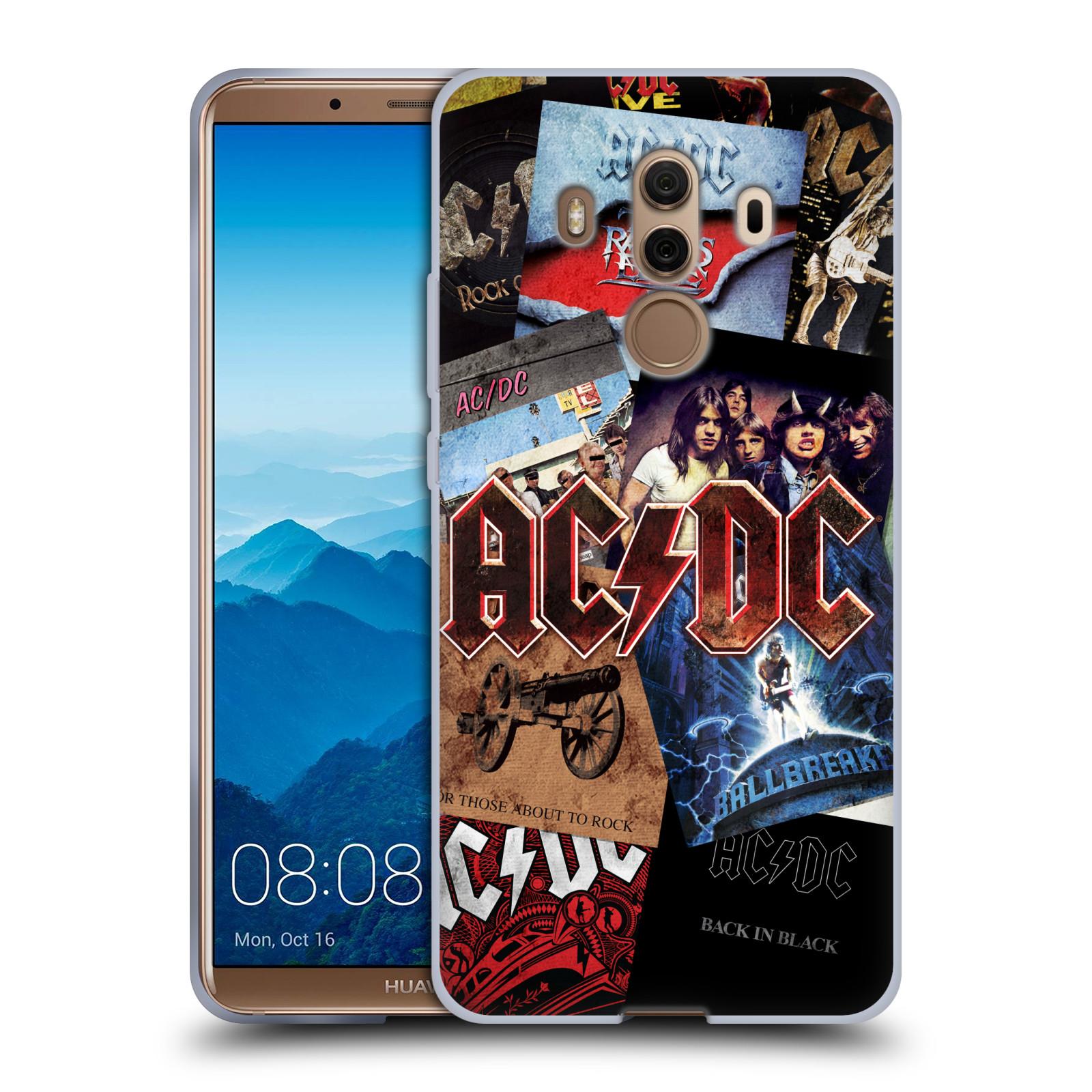Silikonové pouzdro na mobil Huawei Mate 10 Pro - Head Case - AC/DC Koláž desek