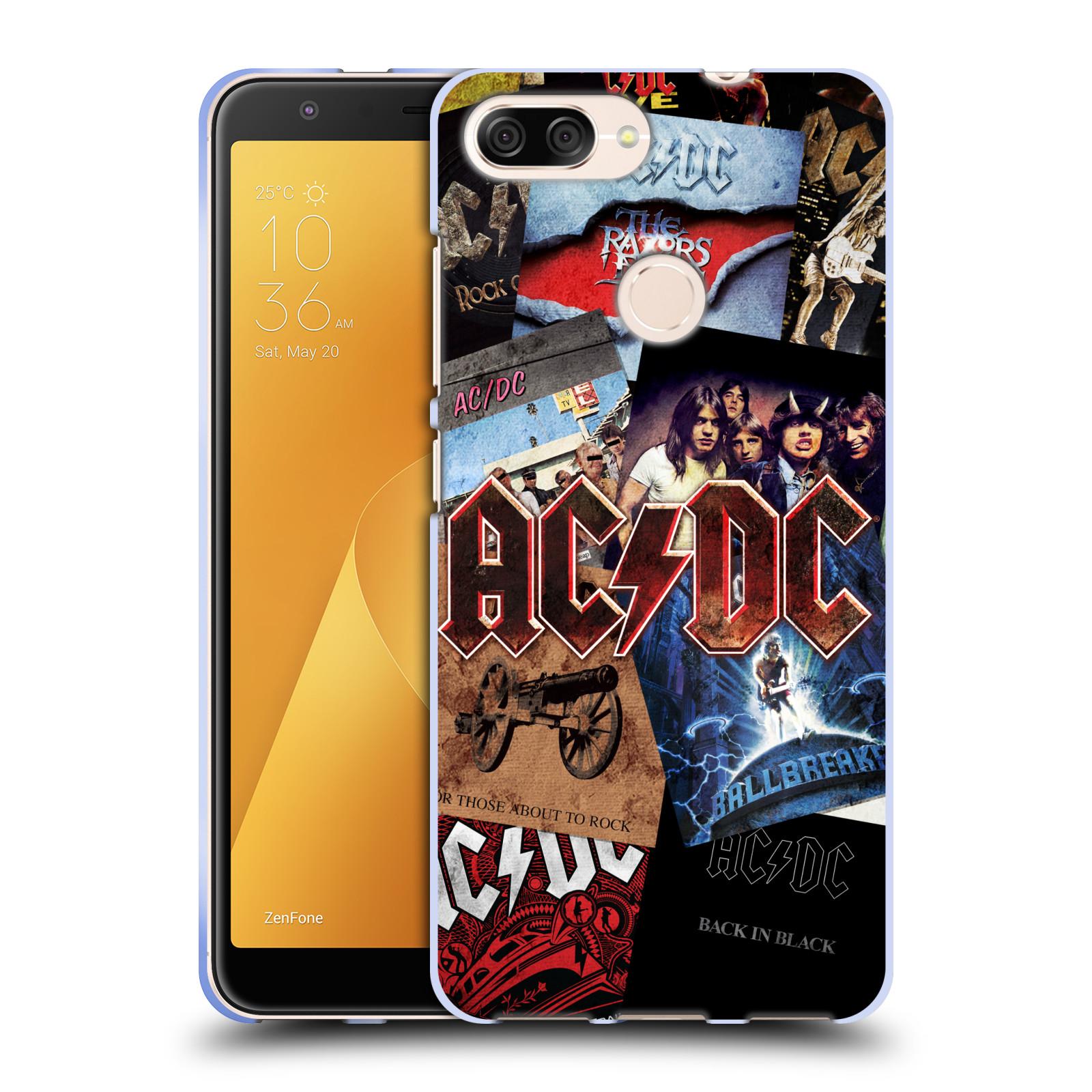 Silikonové pouzdro na mobil Asus ZenFone Max Plus (M1) - Head Case - AC/DC Koláž desek