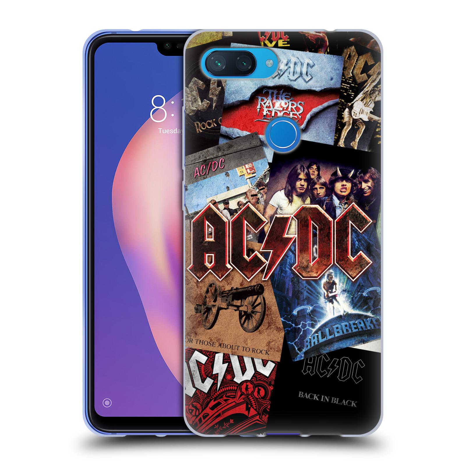 Silikonové pouzdro na mobil Xiaomi Mi 8 Lite - Head Case - AC/DC Koláž desek