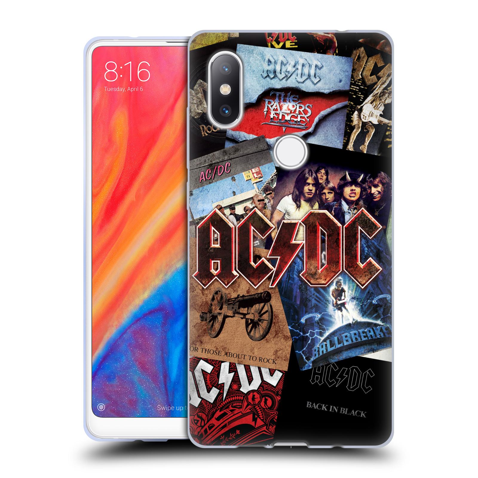 Silikonové pouzdro na mobil Xiaomi Mi Mix 2S - Head Case - AC/DC Koláž desek