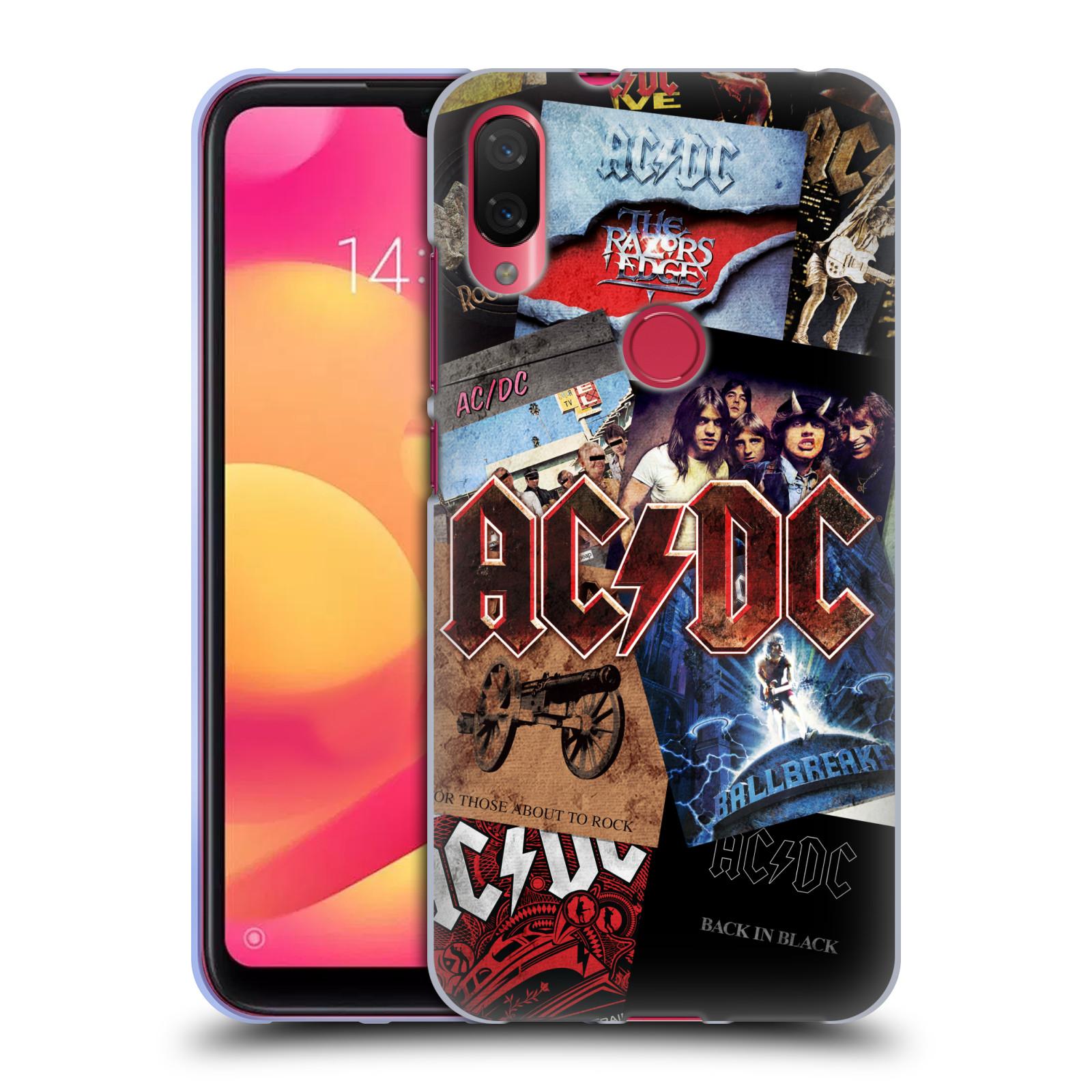 Silikonové pouzdro na mobil Xiaomi Mi Play - Head Case - AC/DC Koláž desek