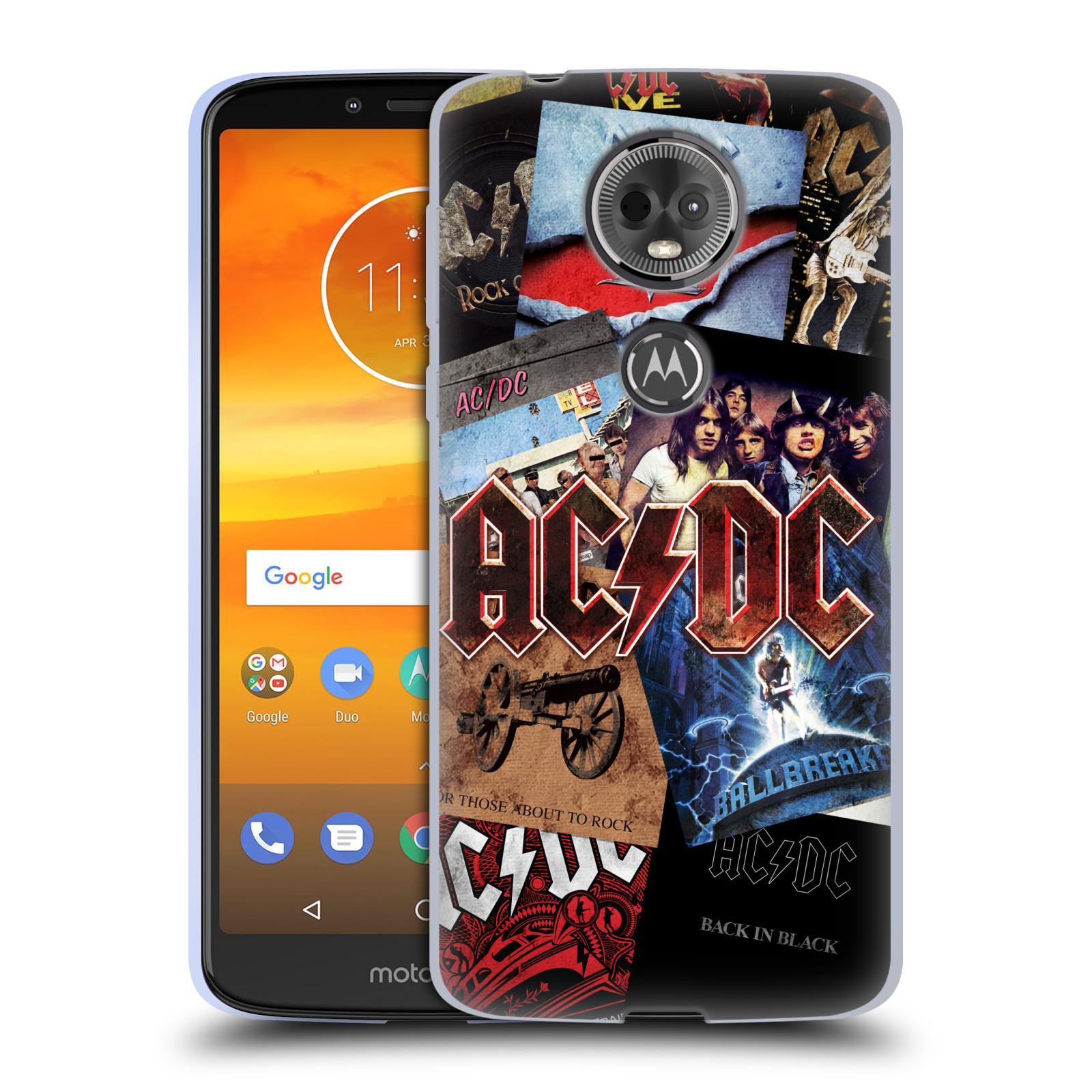 Silikonové pouzdro na mobil Motorola Moto E5 Plus - Head Case - AC/DC Koláž desek