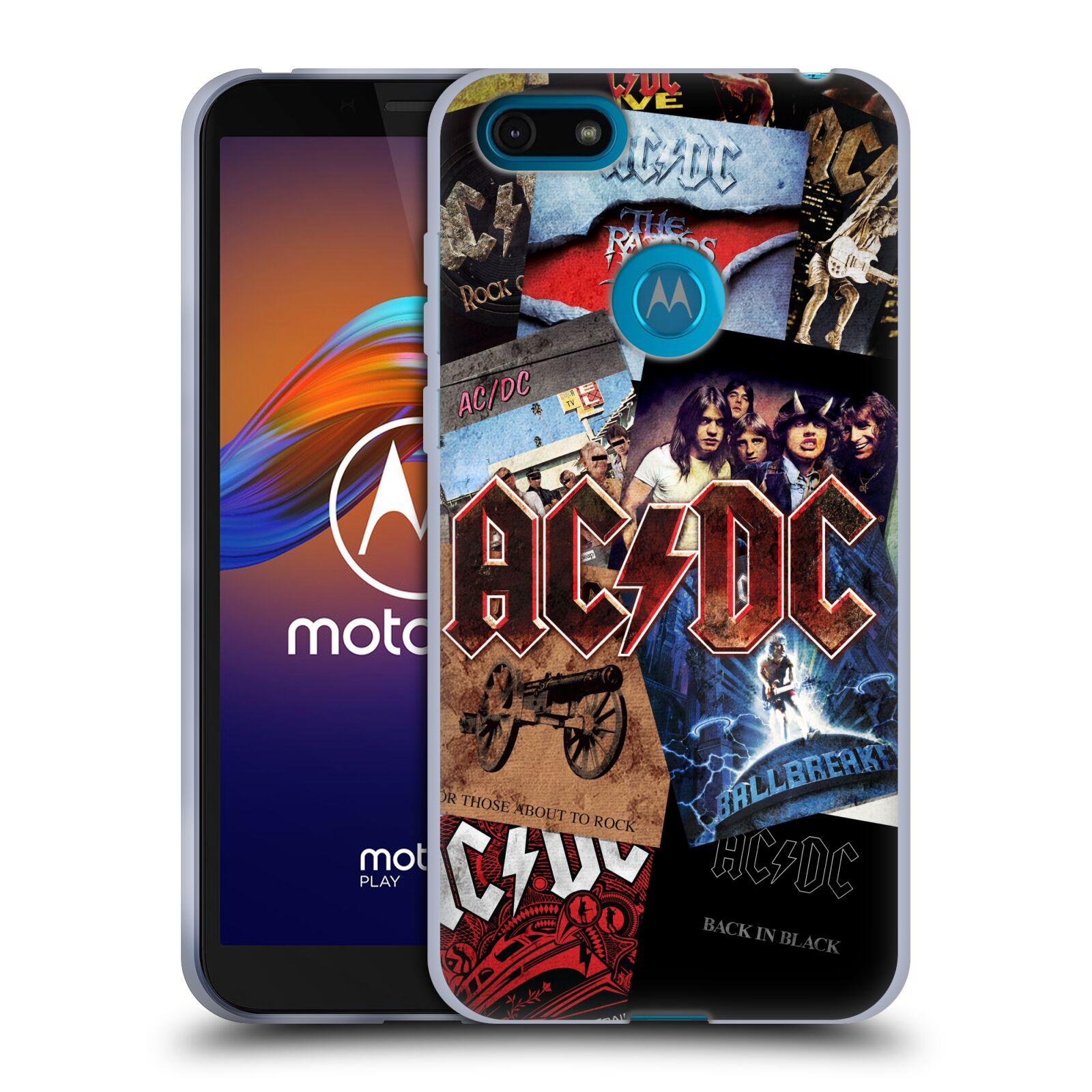 Silikonové pouzdro na mobil Motorola Moto E6 Play - Head Case - AC/DC Koláž desek