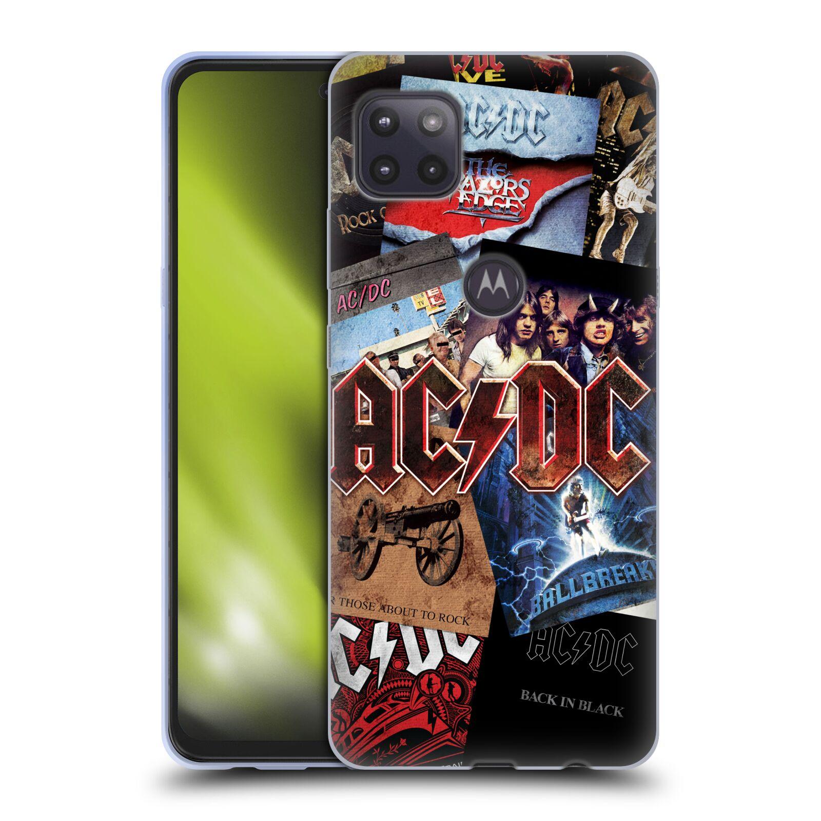 Silikonové pouzdro na mobil Motorola Moto G 5G - Head Case - AC/DC Koláž desek