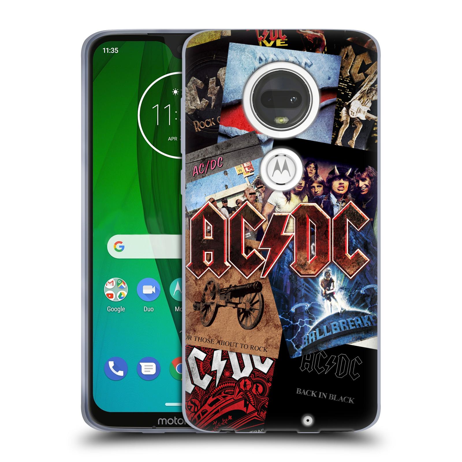 Silikonové pouzdro na mobil Motorola Moto G7 - Head Case - AC/DC Koláž desek