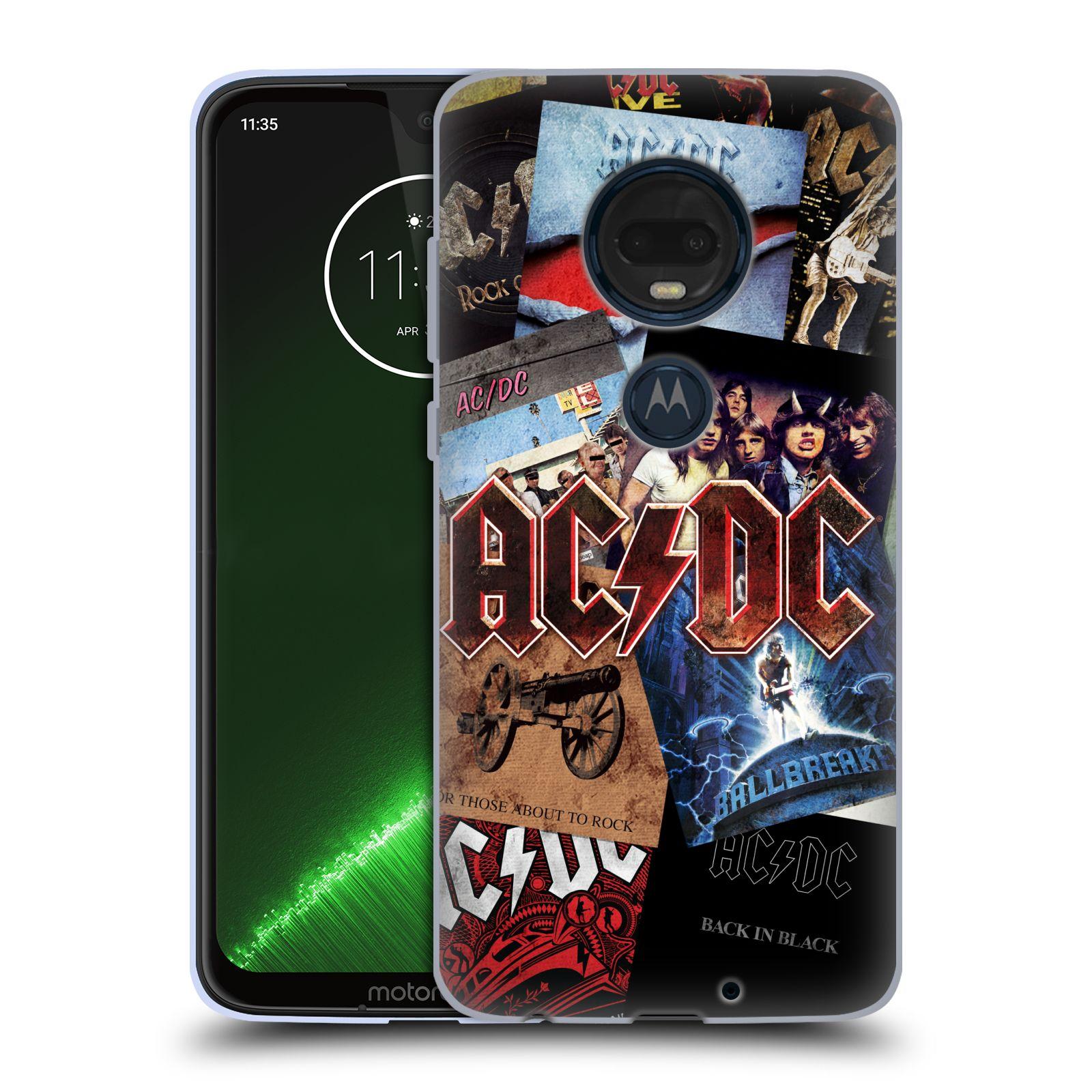 Silikonové pouzdro na mobil Motorola Moto G7 Plus - Head Case - AC/DC Koláž desek