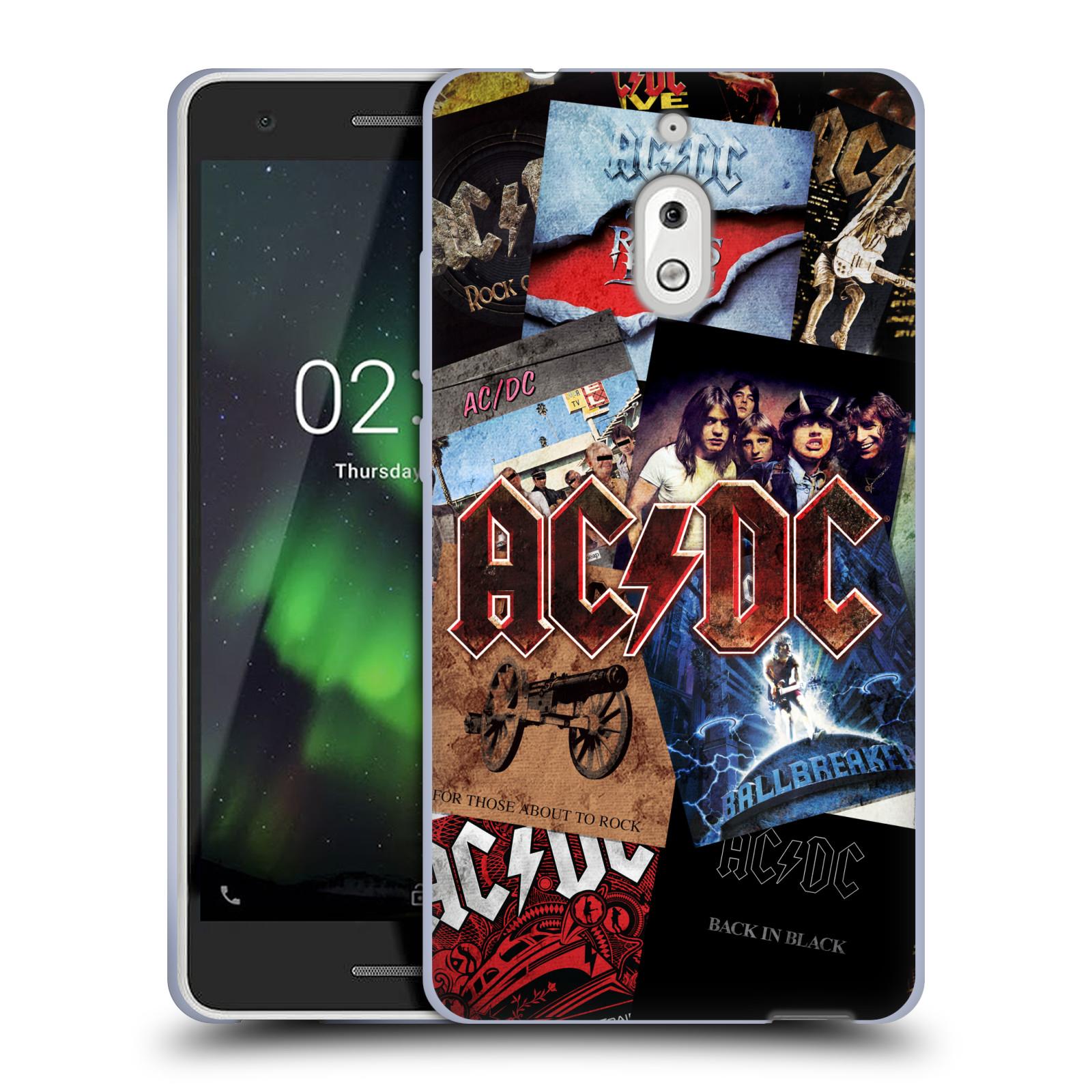 Silikonové pouzdro na mobil Nokia 2.1 - Head Case - AC/DC Koláž desek