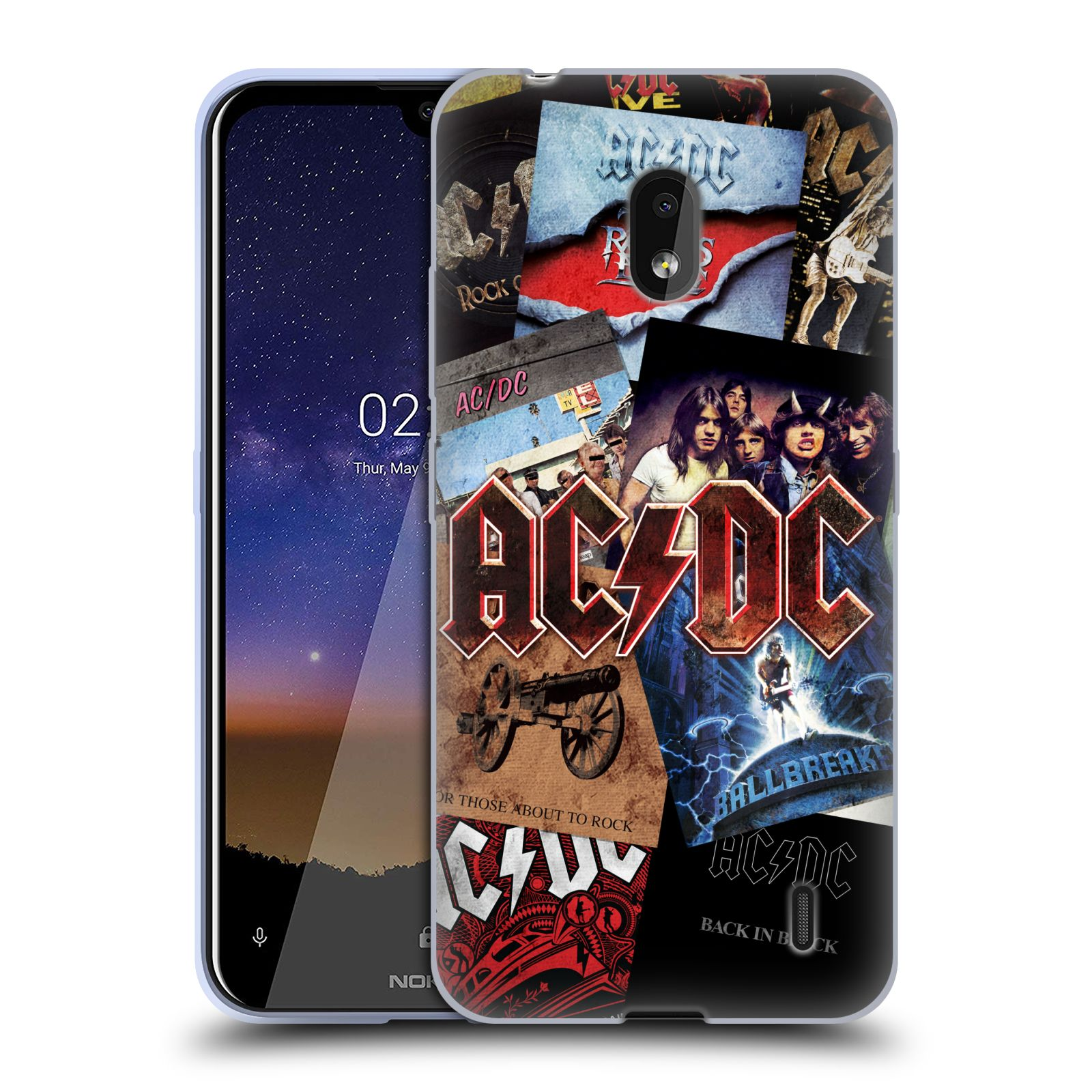 Silikonové pouzdro na mobil Nokia 2.2 - Head Case - AC/DC Koláž desek