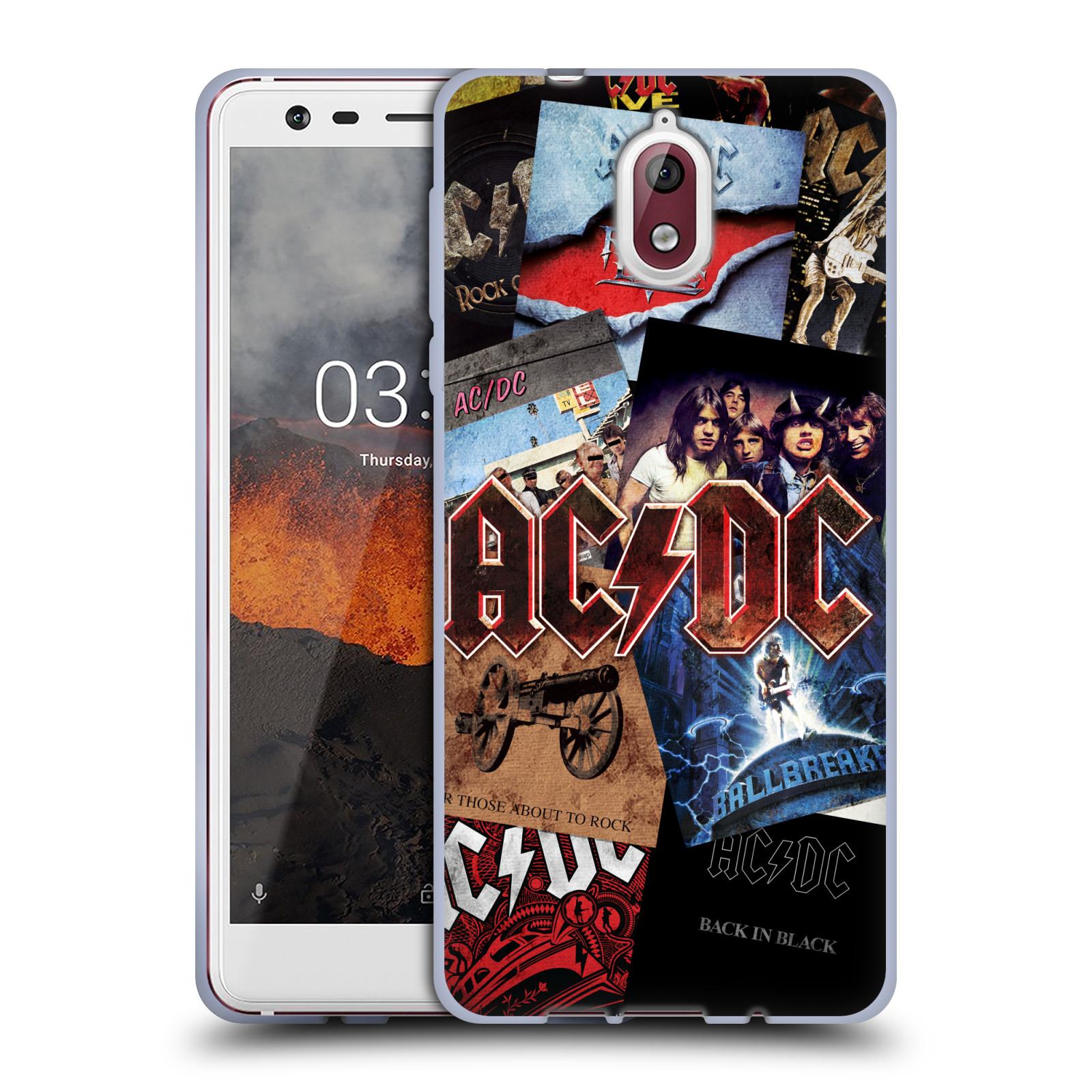 Silikonové pouzdro na mobil Nokia 3.1 - Head Case - AC/DC Koláž desek