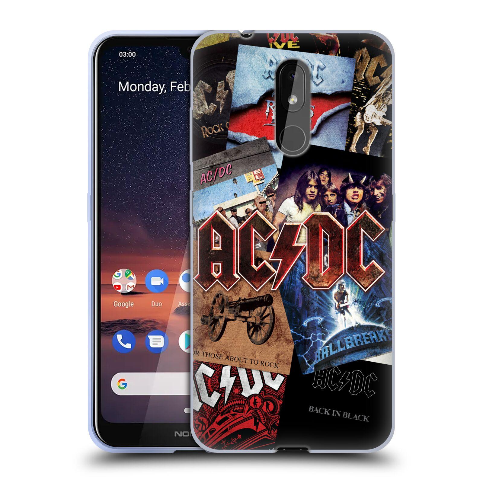 Silikonové pouzdro na mobil Nokia 3.2 - Head Case - AC/DC Koláž desek