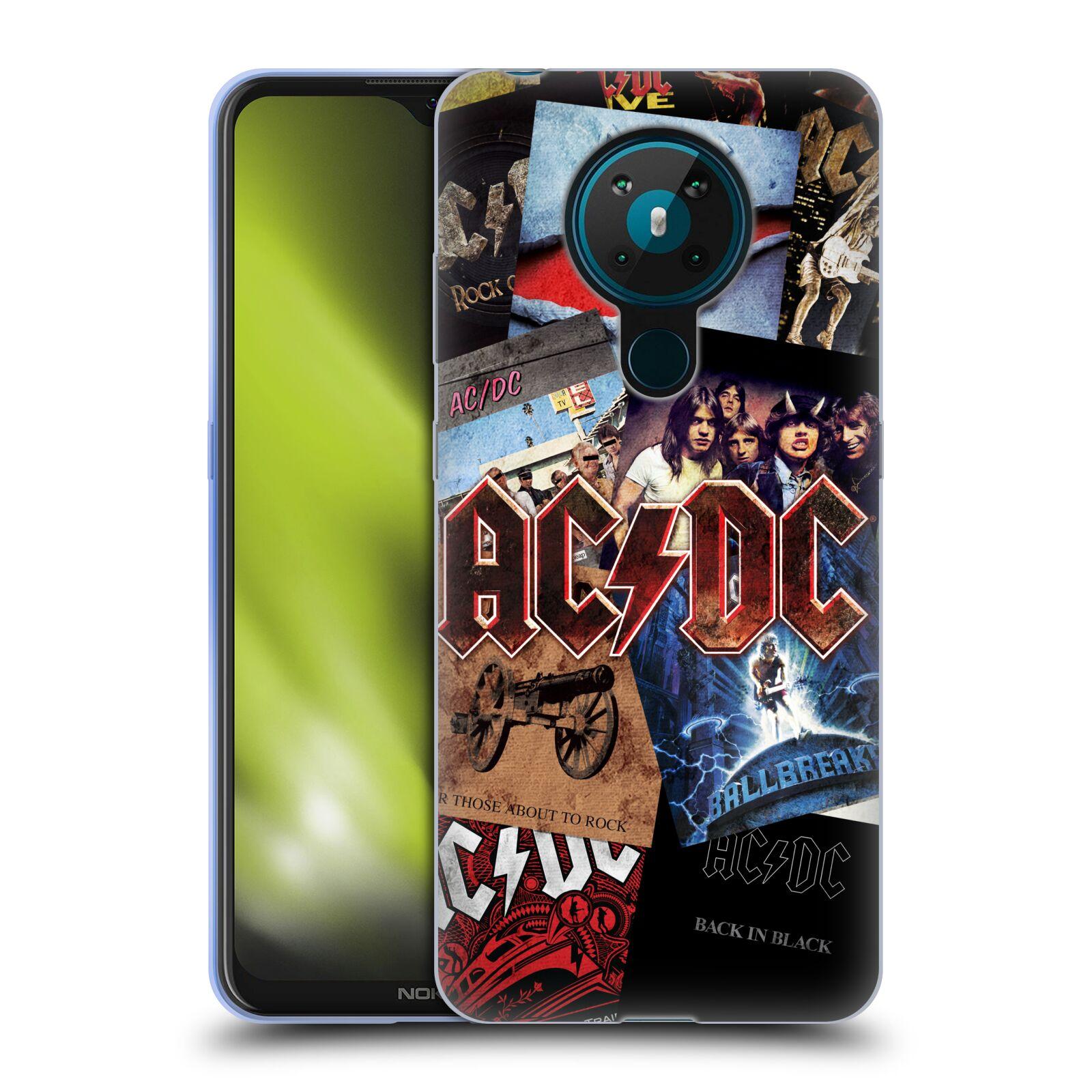 Silikonové pouzdro na mobil Nokia 5.3 - Head Case - AC/DC Koláž desek