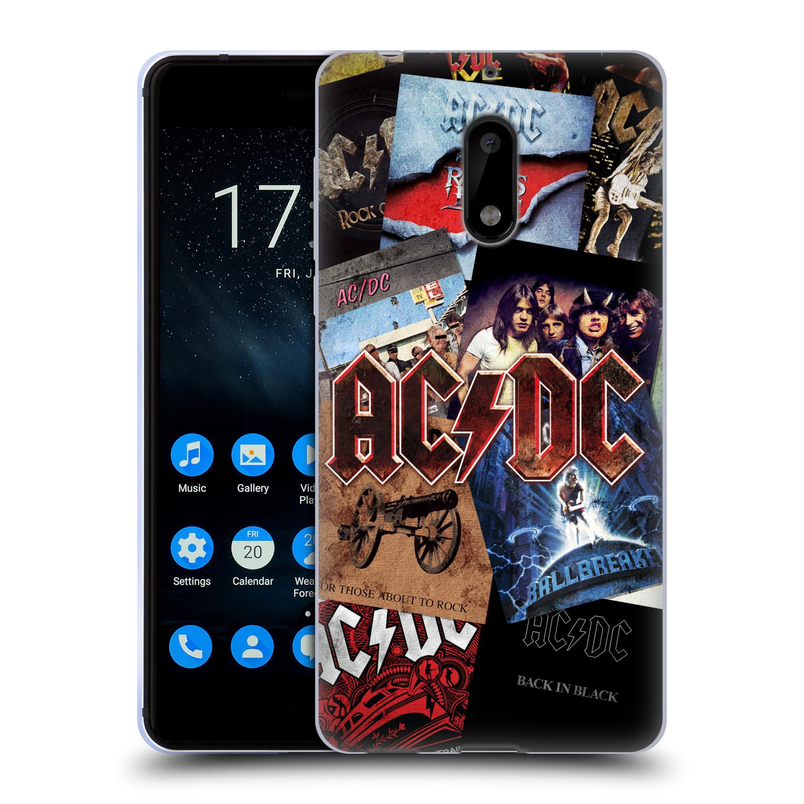 Silikonové pouzdro na mobil Nokia 6 - Head Case - AC/DC Koláž desek