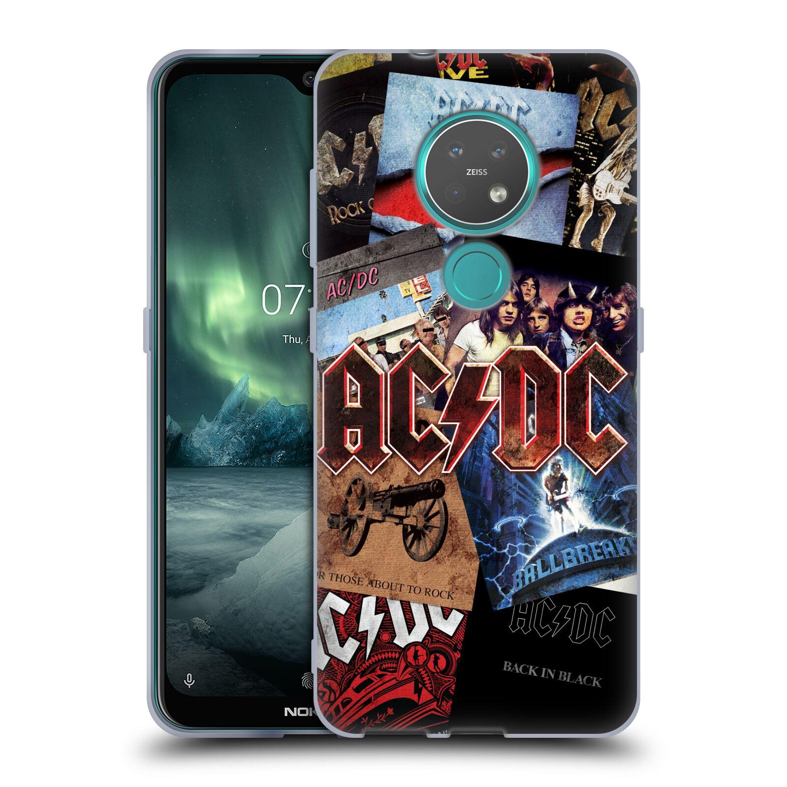 Silikonové pouzdro na mobil Nokia 7.2 - Head Case - AC/DC Koláž desek