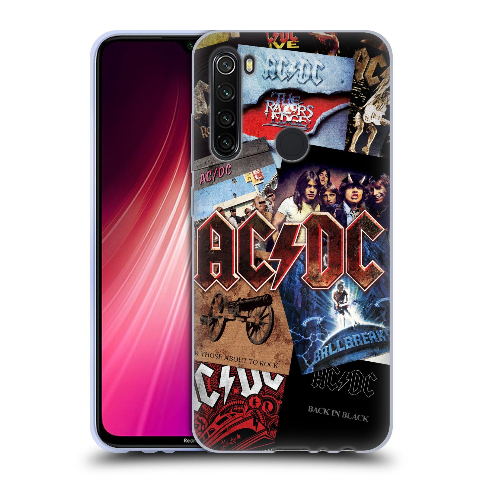 Silikonové pouzdro na mobil Xiaomi Redmi Note 8T - Head Case - AC/DC Koláž desek