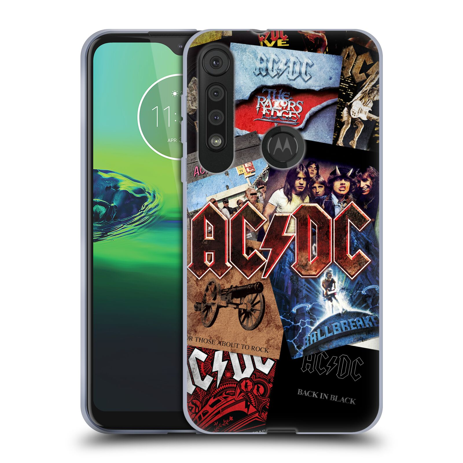 Silikonové pouzdro na mobil Motorola One Macro - Head Case - AC/DC Koláž desek