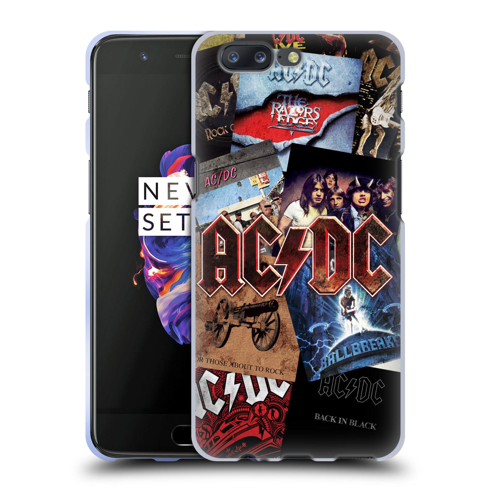 Silikonové pouzdro na mobil OnePlus 5 - Head Case - AC/DC Koláž desek