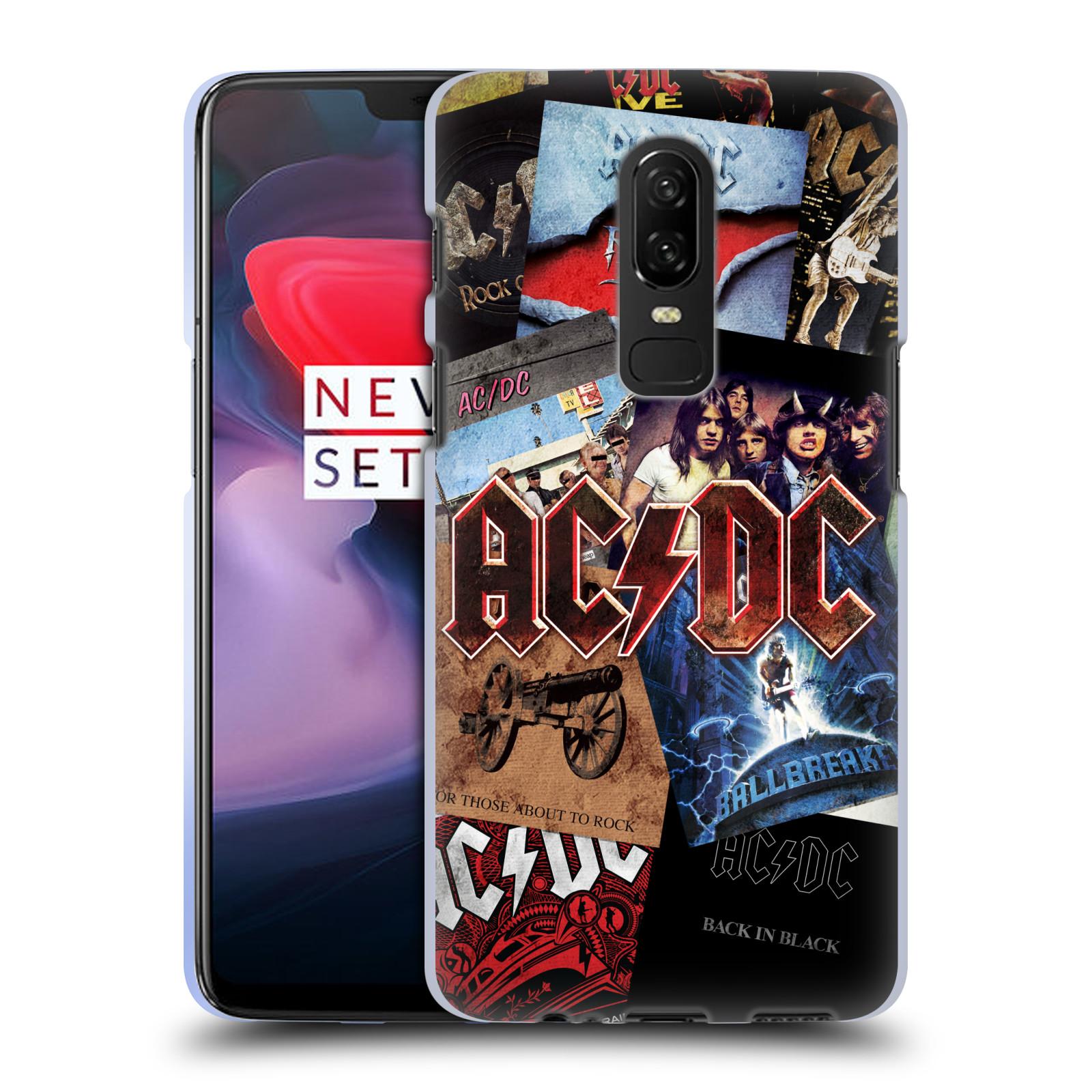 Silikonové pouzdro na mobil OnePlus 6 - Head Case - AC/DC Koláž desek