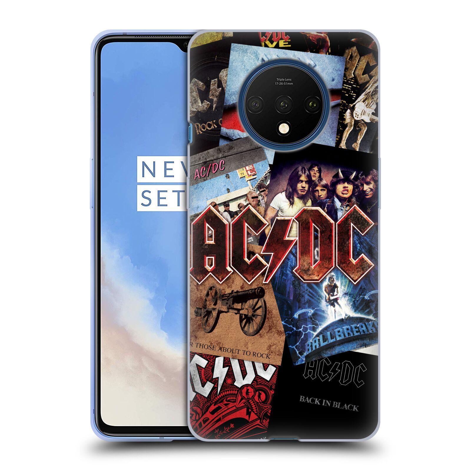 Silikonové pouzdro na mobil OnePlus 7T - Head Case - AC/DC Koláž desek