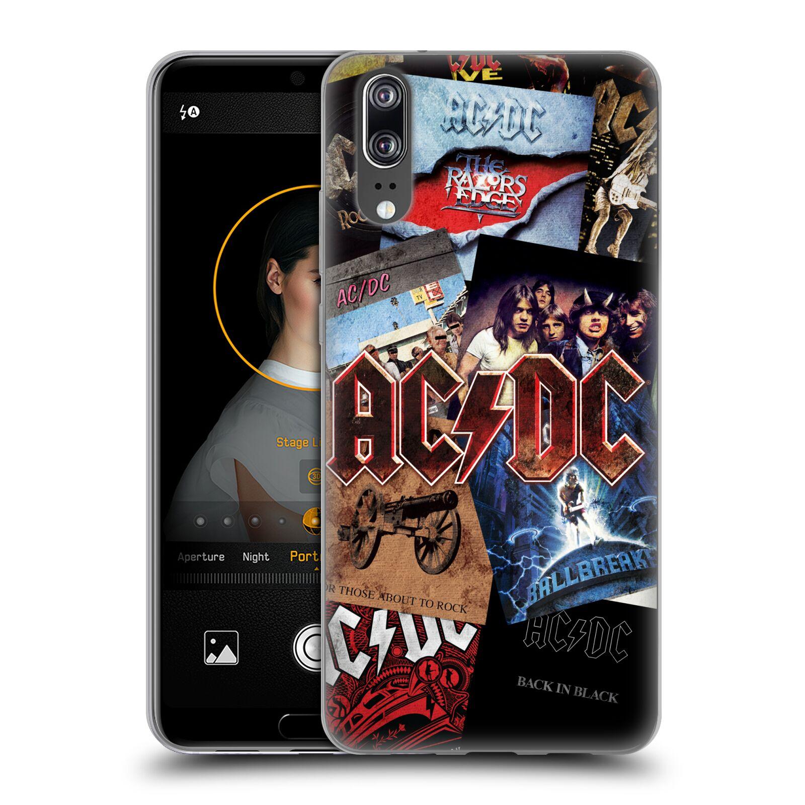 Silikonové pouzdro na mobil Huawei P20 - Head Case - AC/DC Koláž desek
