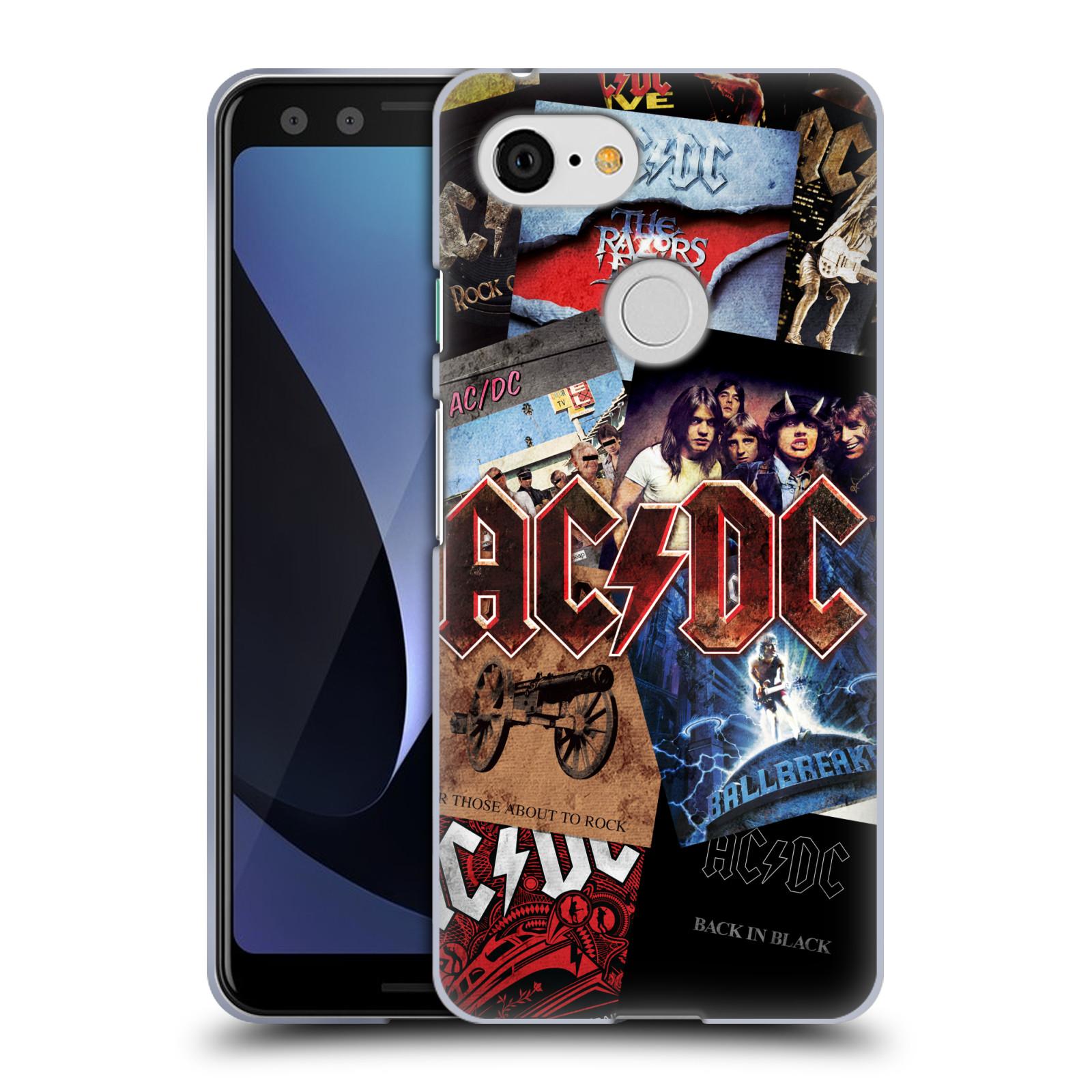 Silikonové pouzdro na mobil Google Pixel 3 - Head Case - AC/DC Koláž desek