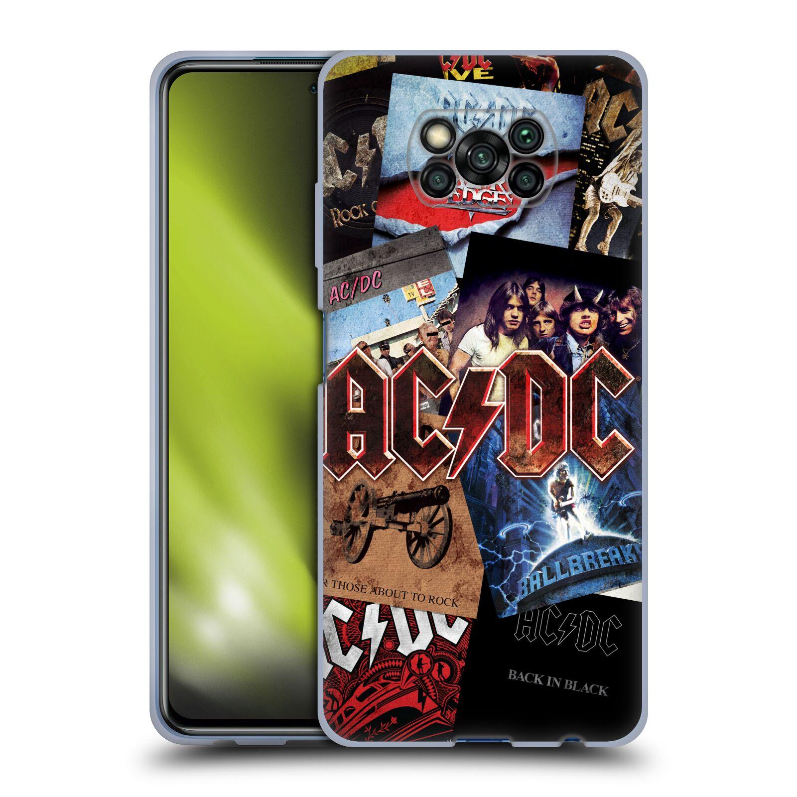 Silikonové pouzdro na mobil Xiaomi Poco X3 NFC - Head Case - AC/DC Koláž desek